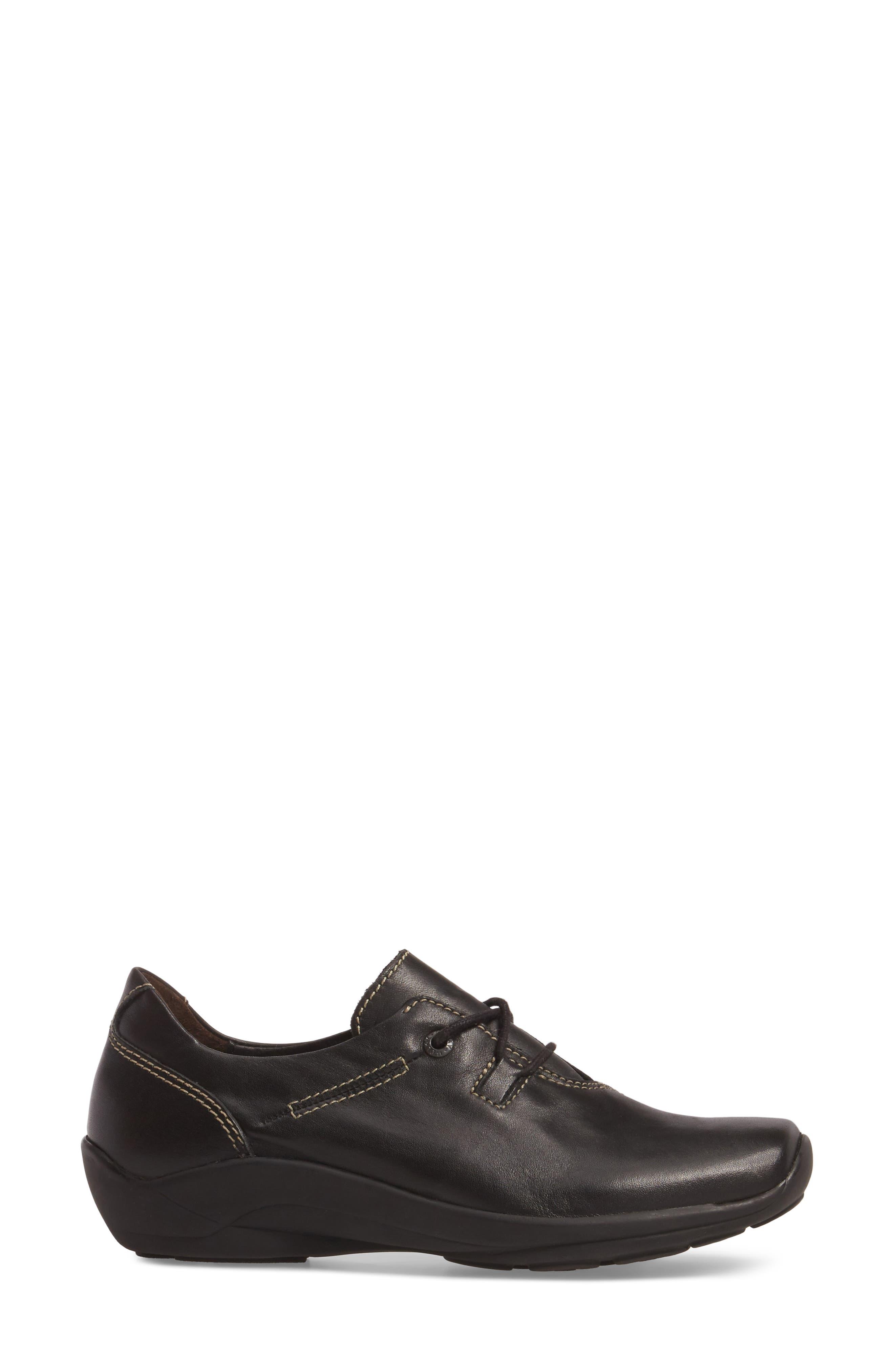 Rosa Sneaker,                             Alternate thumbnail 3, color,                             Black Leather