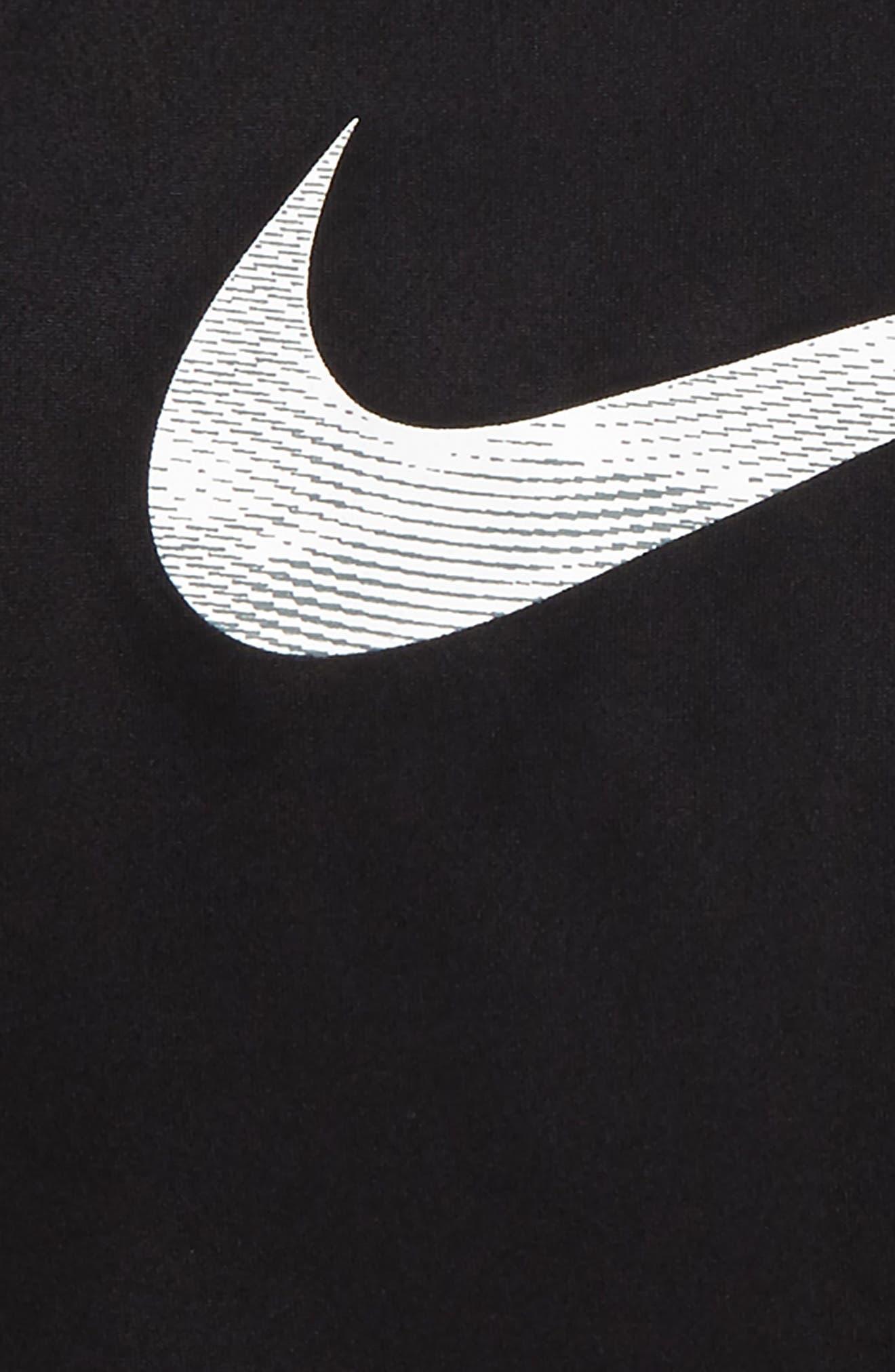 Dry Swoosh T-Shirt,                             Alternate thumbnail 2, color,                             Black/ White