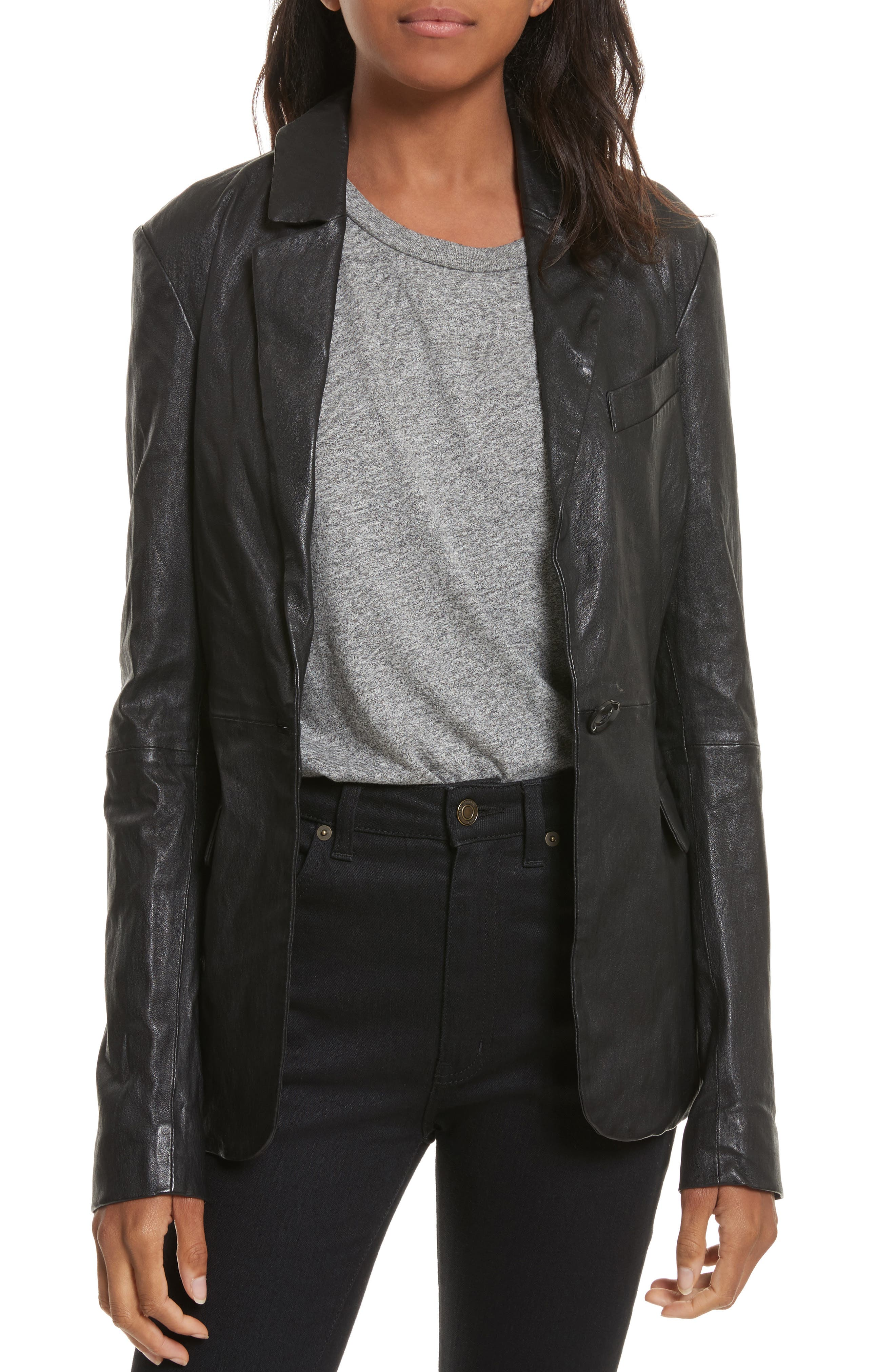 Main Image - Tracy Reese Leather Jacket