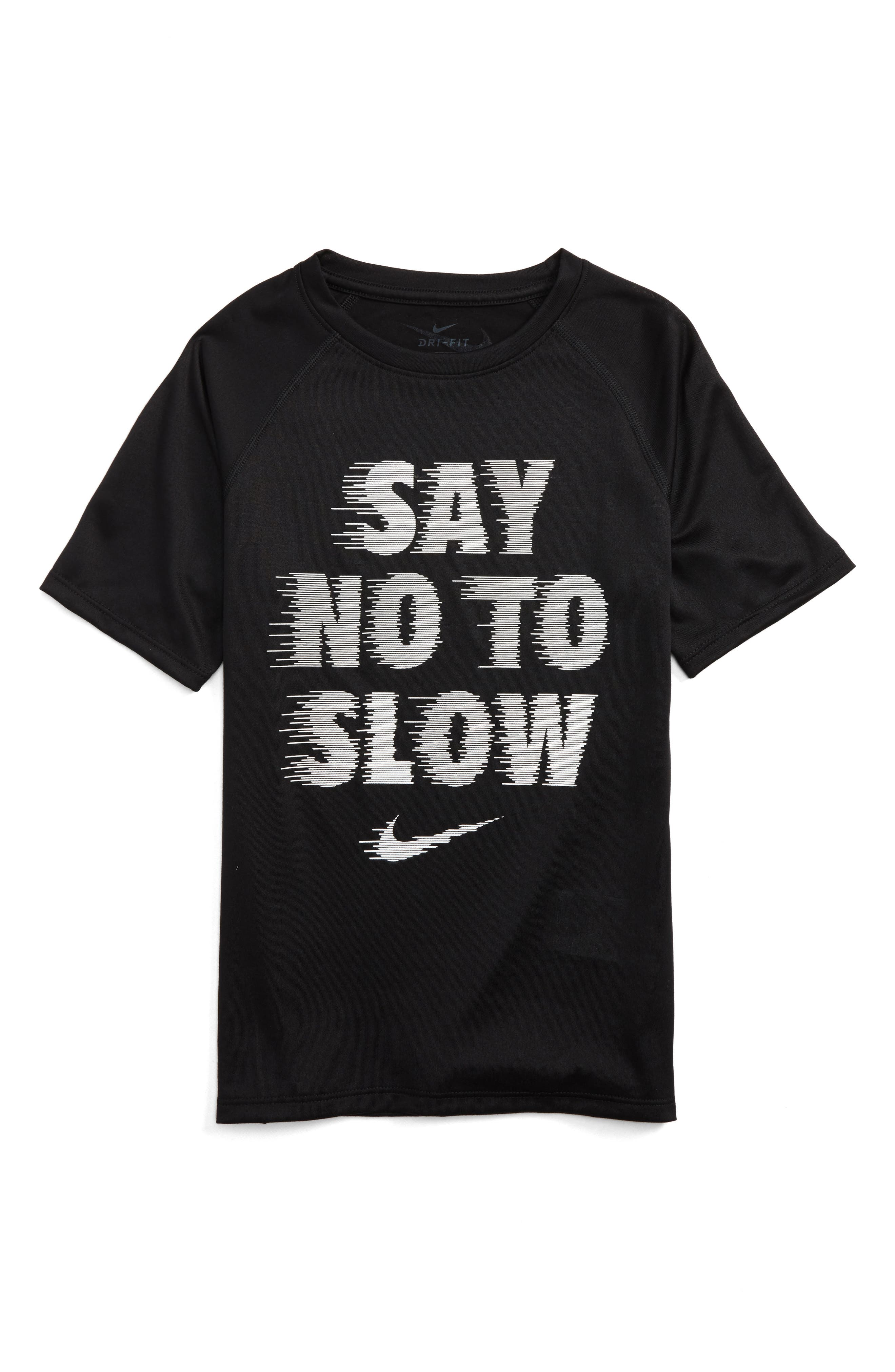 Dry Say No to Slow Graphic T-Shirt,                             Main thumbnail 1, color,                             Black/ White
