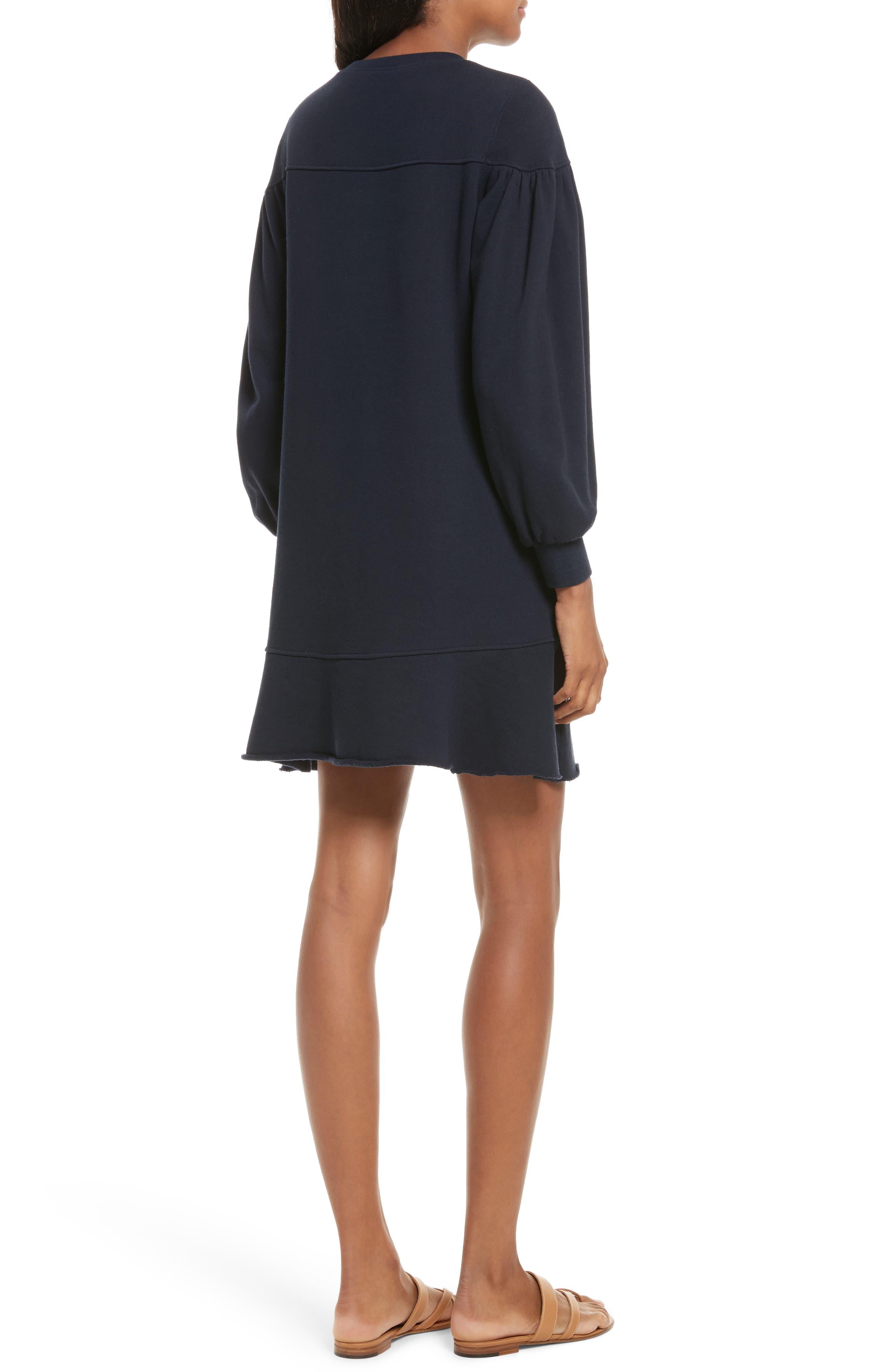 Alternate Image 2  - La Vie Rebecca Taylor Long Sleeve Fleece Dress