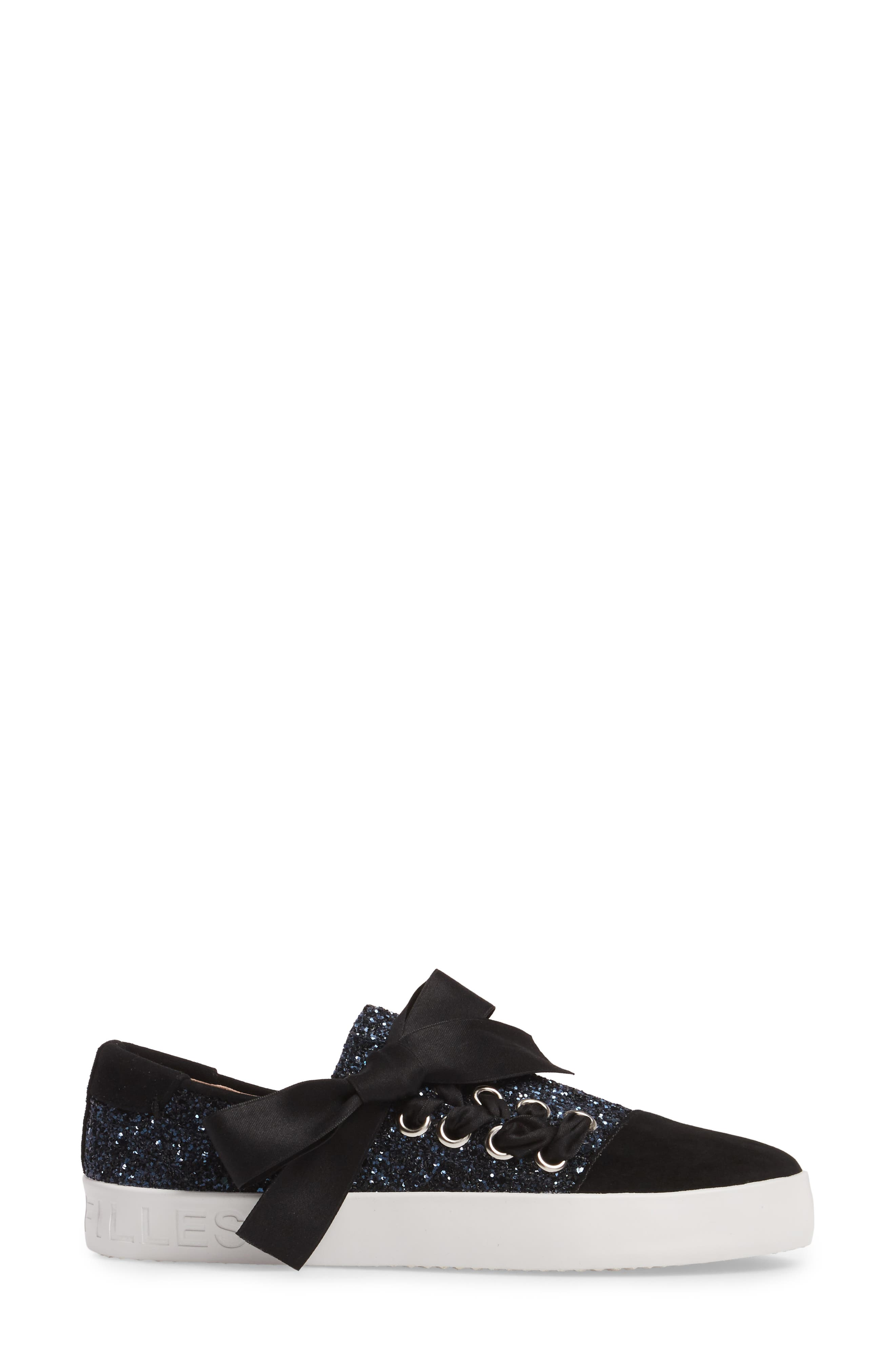 Vera Sneaker,                             Alternate thumbnail 3, color,                             Midnight Navy Fabric