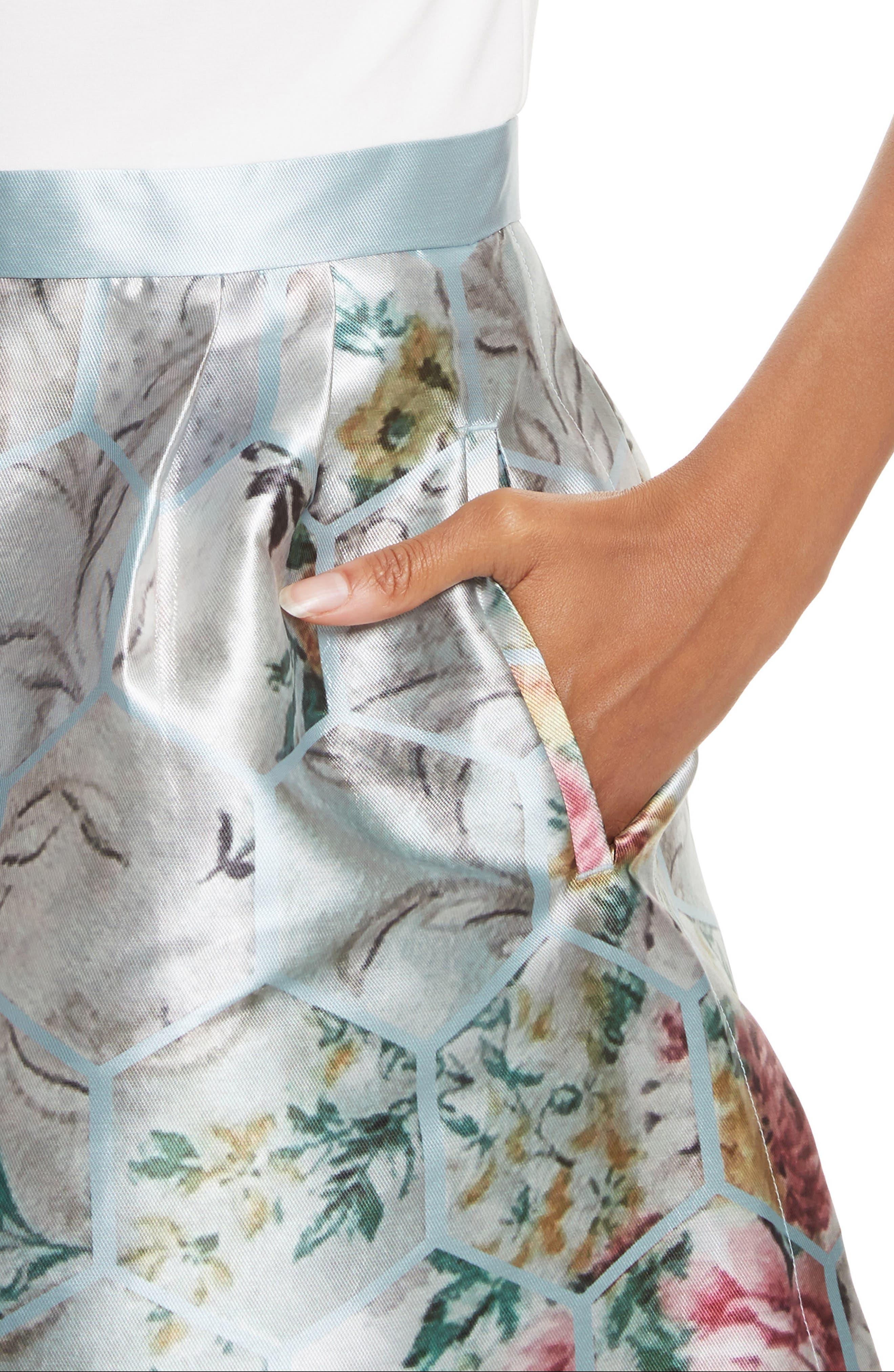 Alternate Image 4  - Ted Baker London Dewrose Patchwork A-line Dress