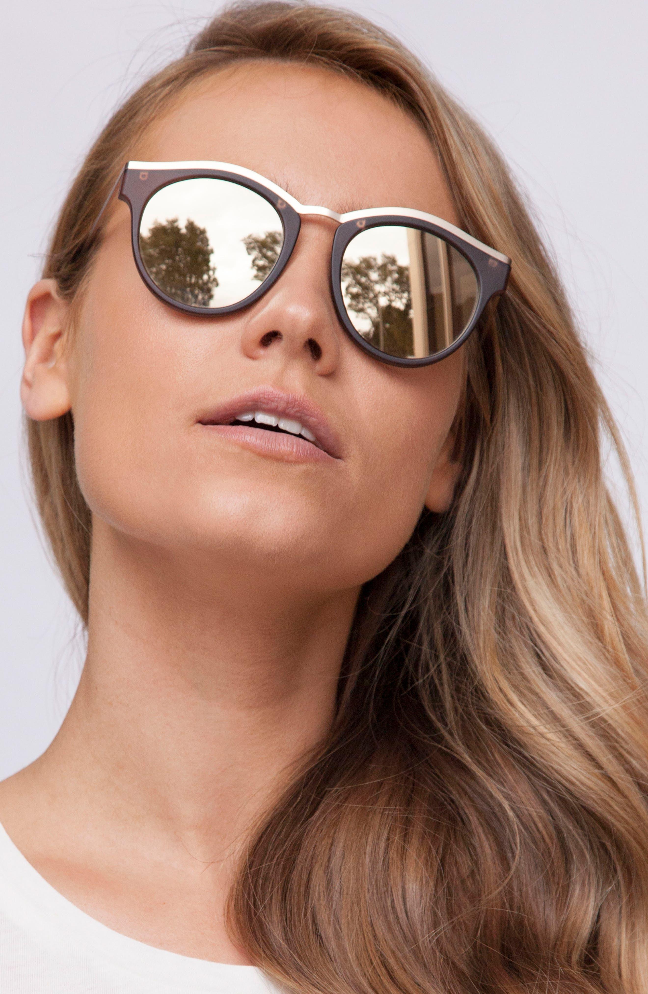 Hypnotize 50mm Round Sunglasses,                             Alternate thumbnail 4, color,