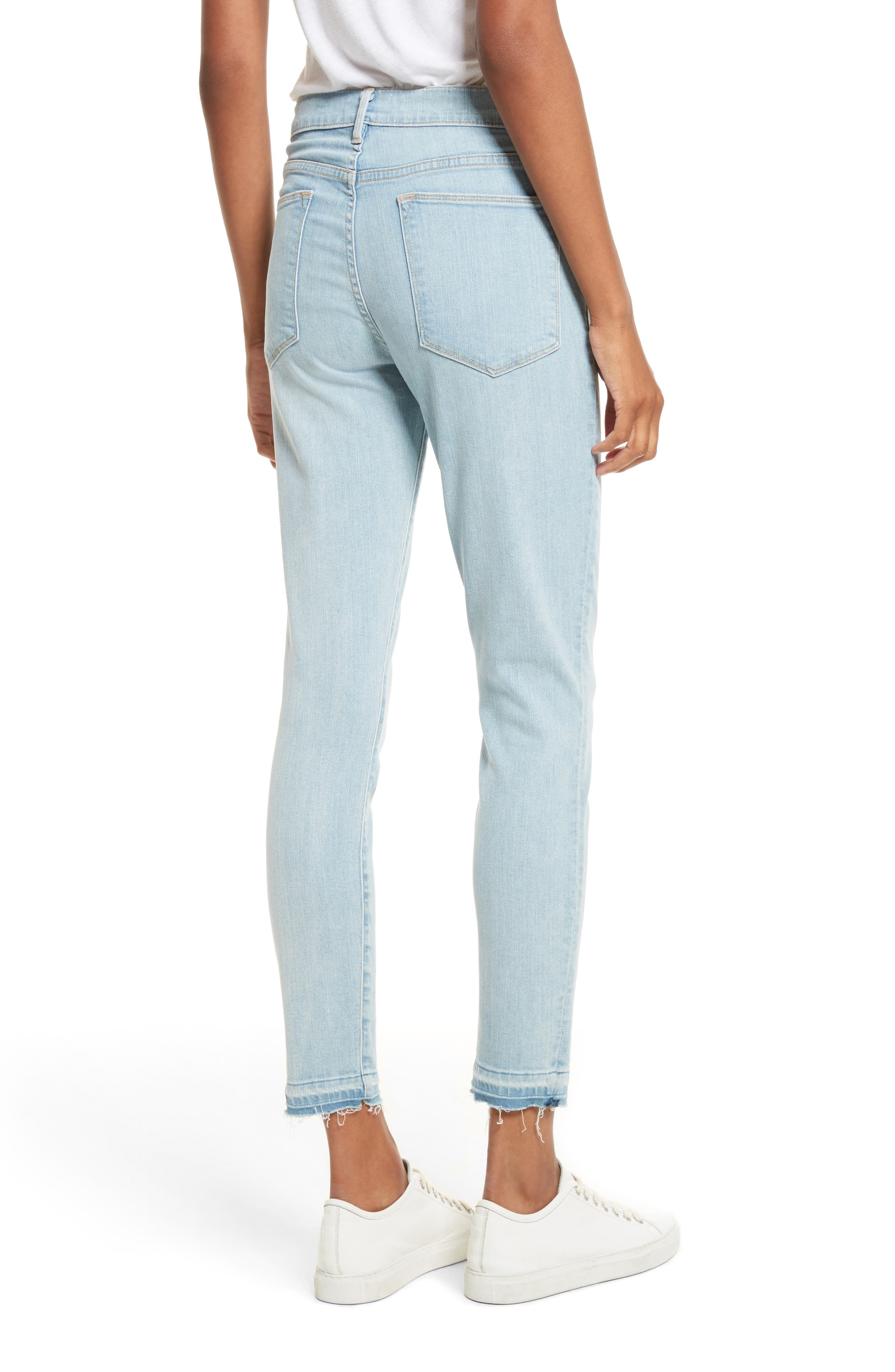Le High Skinny Crop Jeans,                             Alternate thumbnail 3, color,                             Prospect