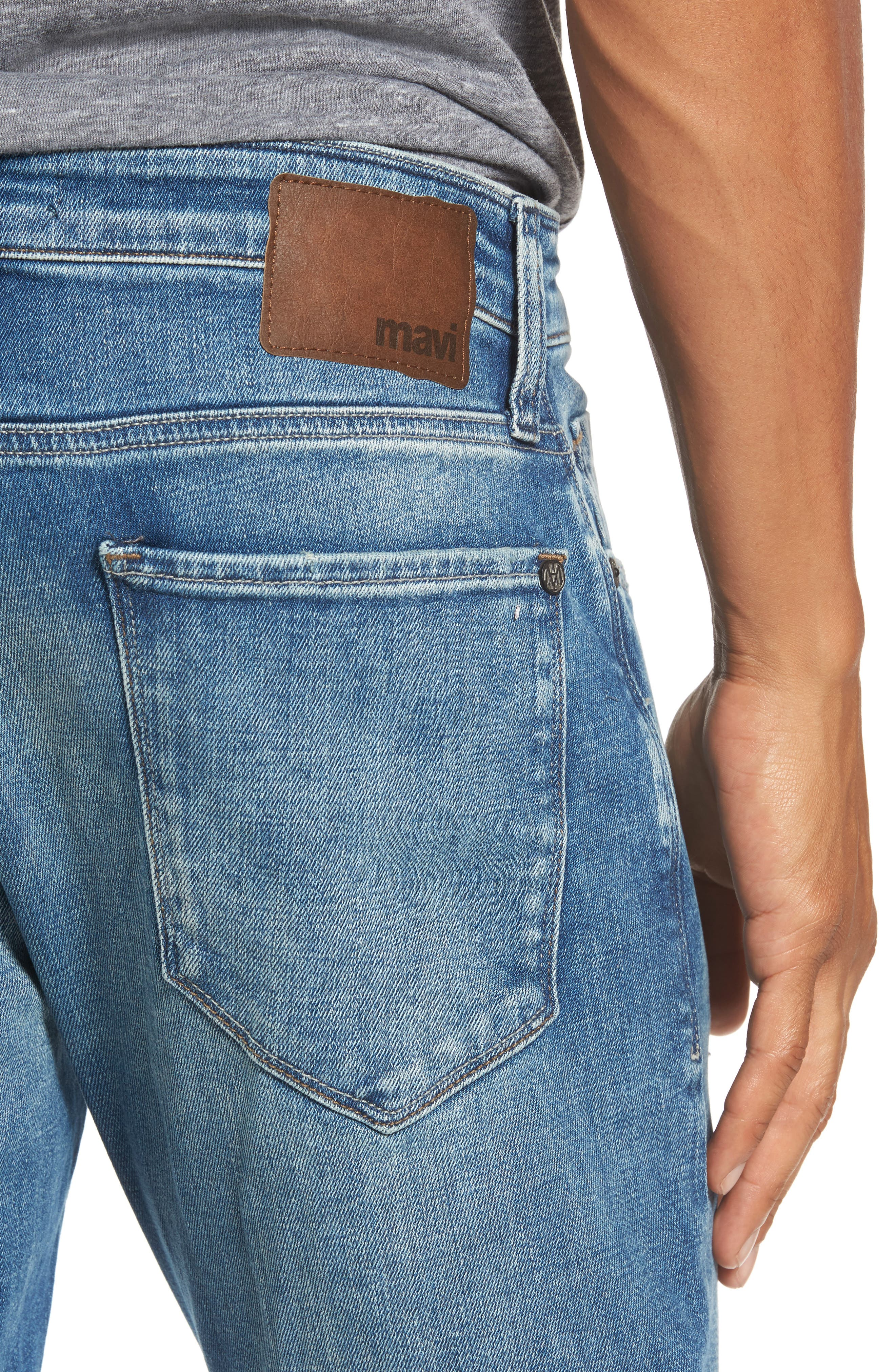 Alternate Image 4  - Mavi Jeans Jake Easy Slim Fit Jeans (Mid Ripped Authentic Vintage)