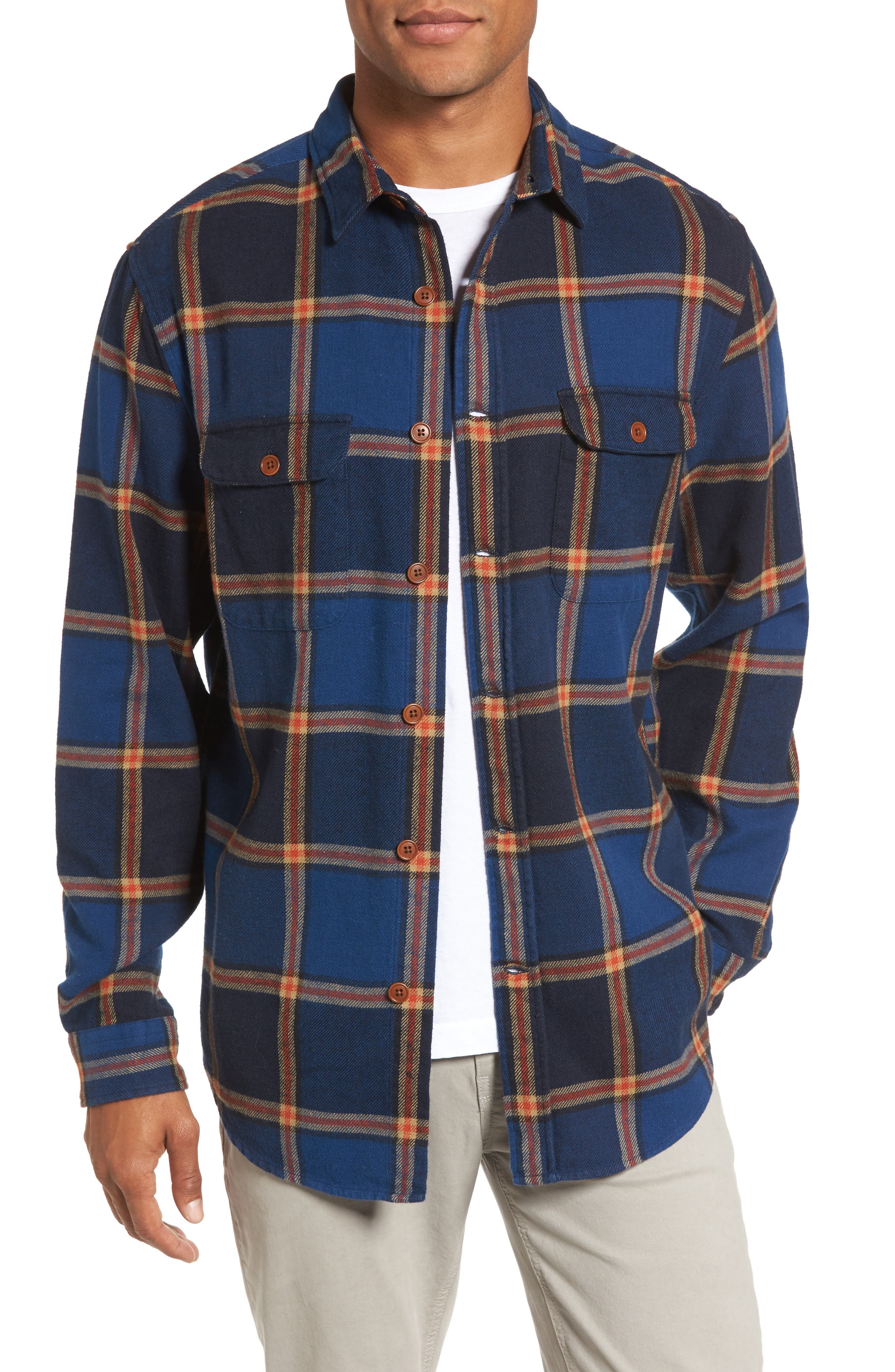 Alternate Image 1 Selected - Gant R1 Check Twill Shirt Jacket