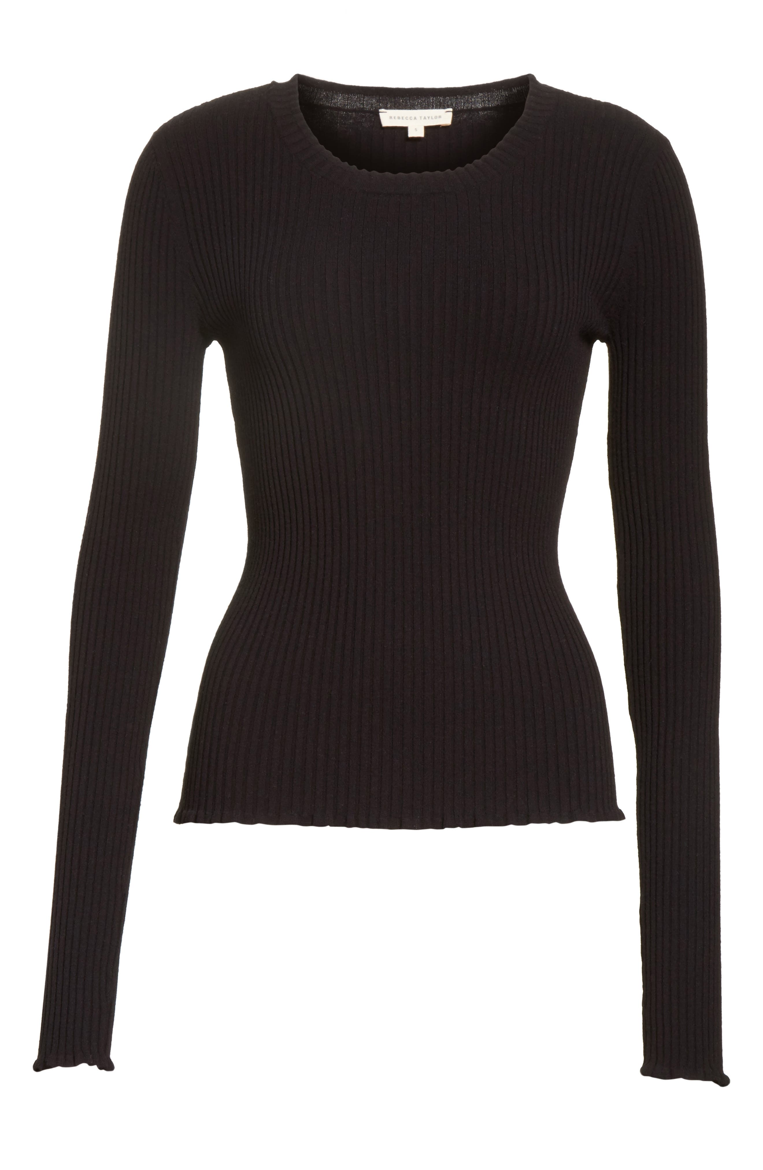 Alternate Image 6  - Rebecca Taylor Rib Knit Scoop Neck Sweater