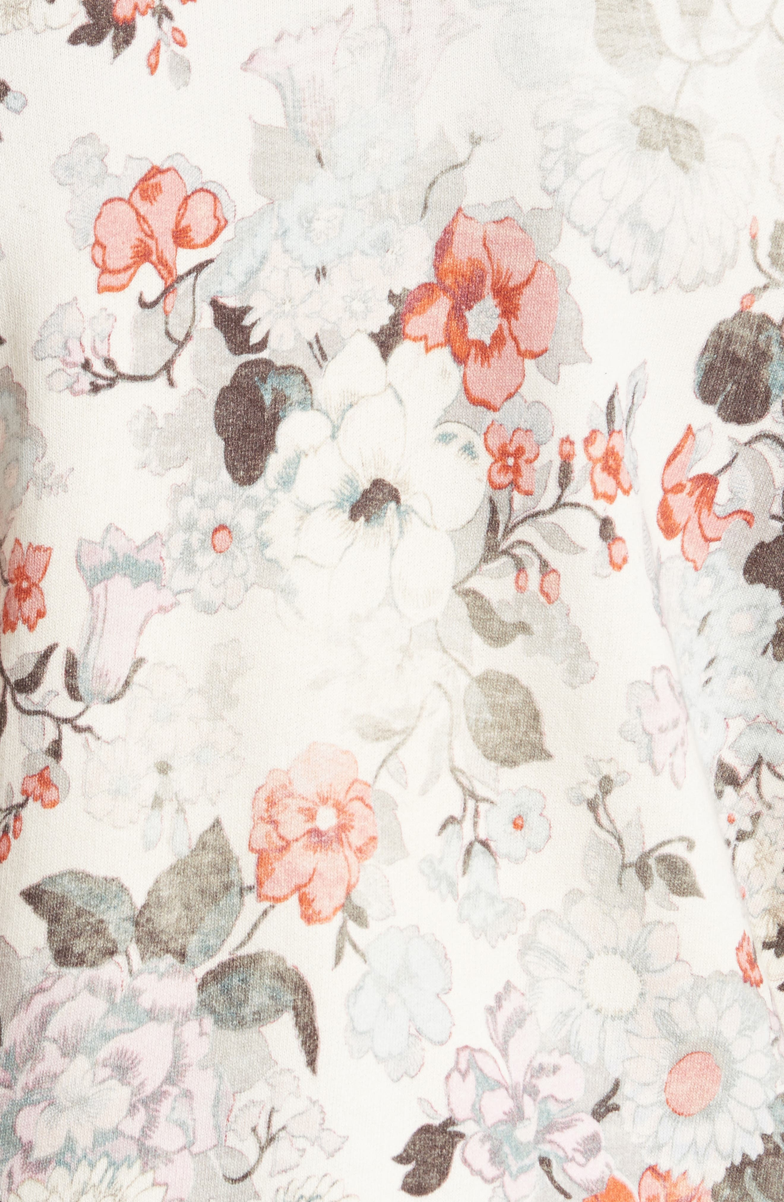 Lua Ruffle Pullover,                             Alternate thumbnail 5, color,                             Cream Combo