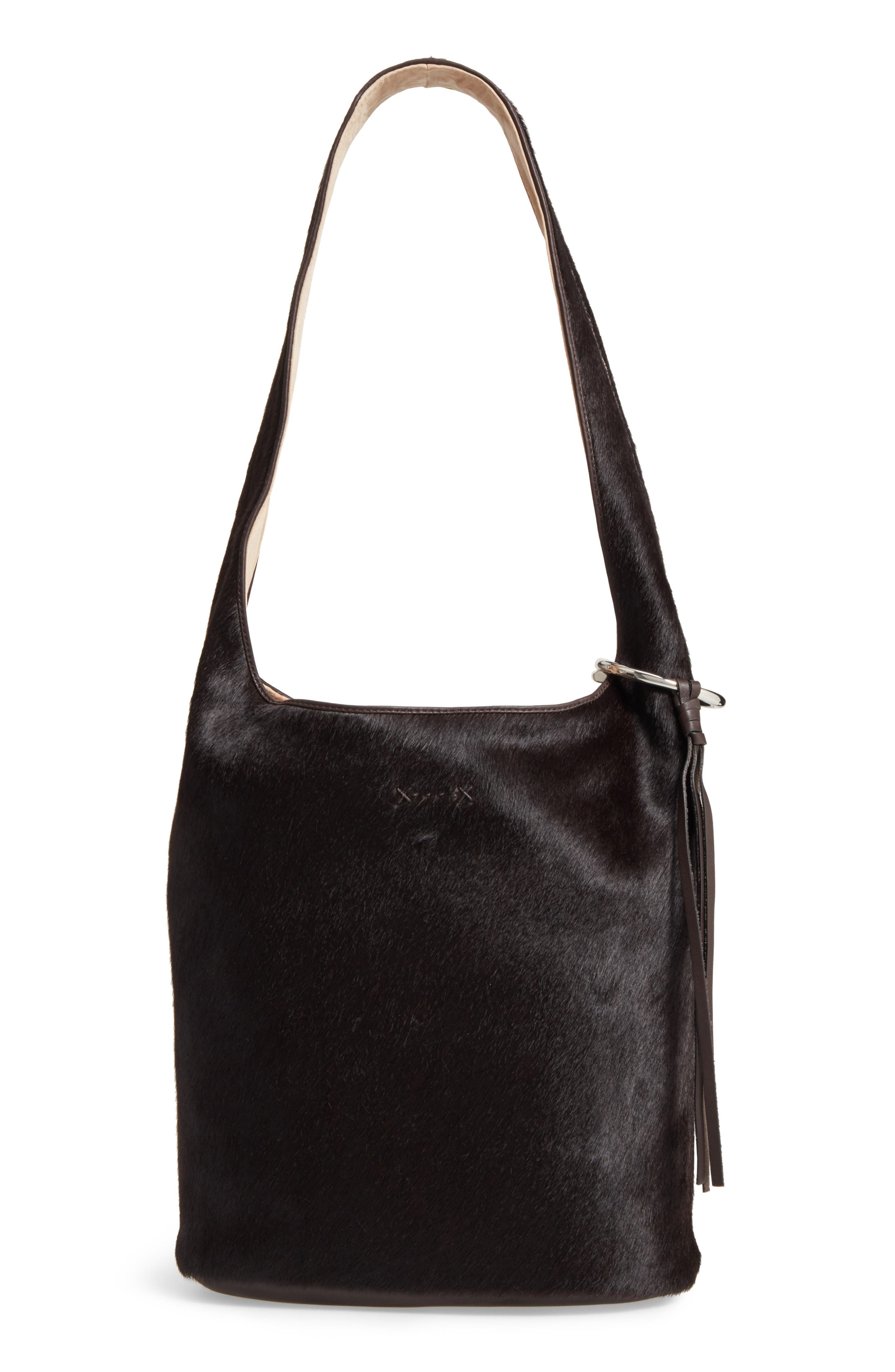 Main Image - Elizabeth and James Finley Genuine Calf Hair Courier Hobo