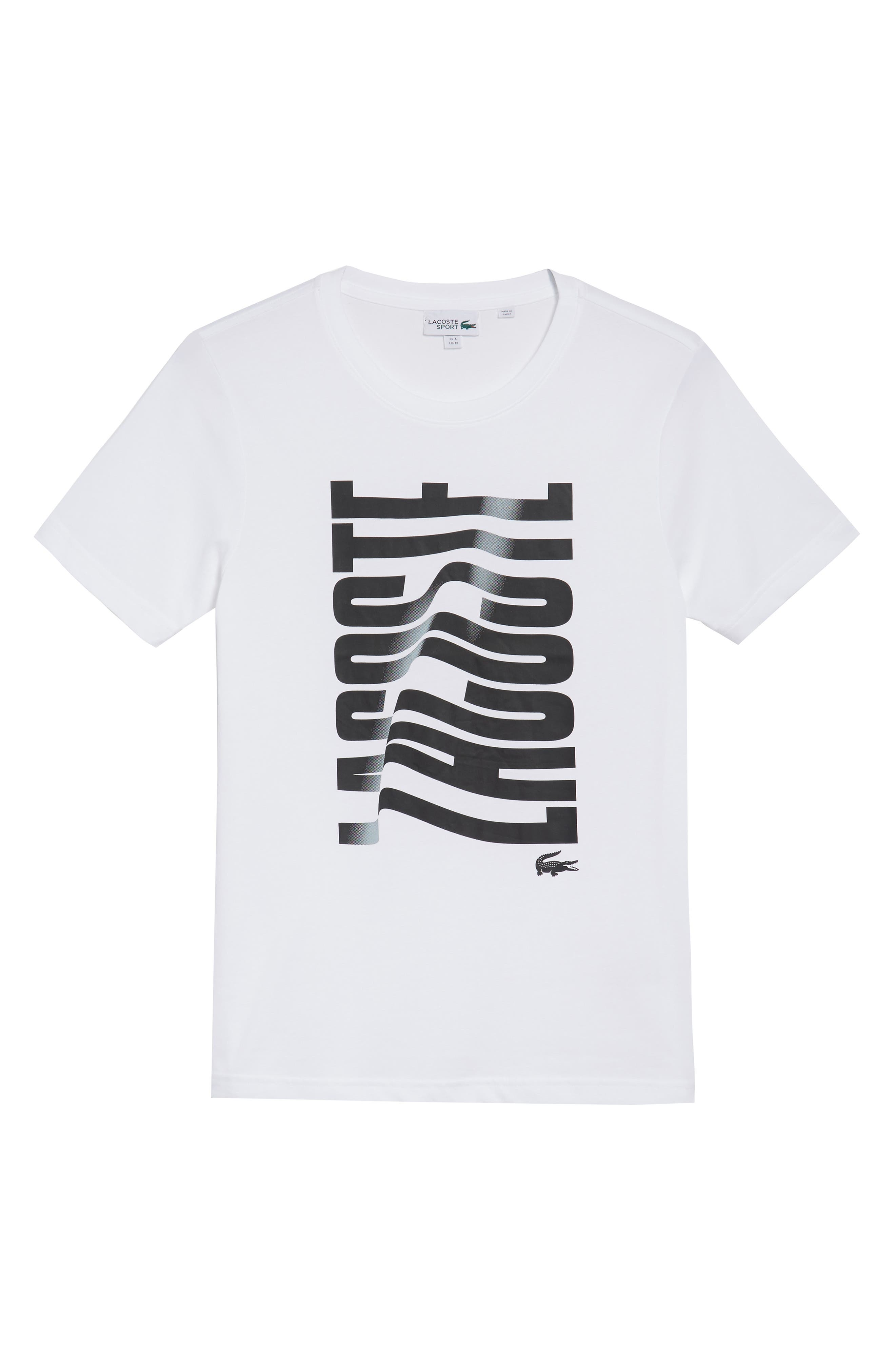 LACOSTE Vertical Graphic T-Shirt