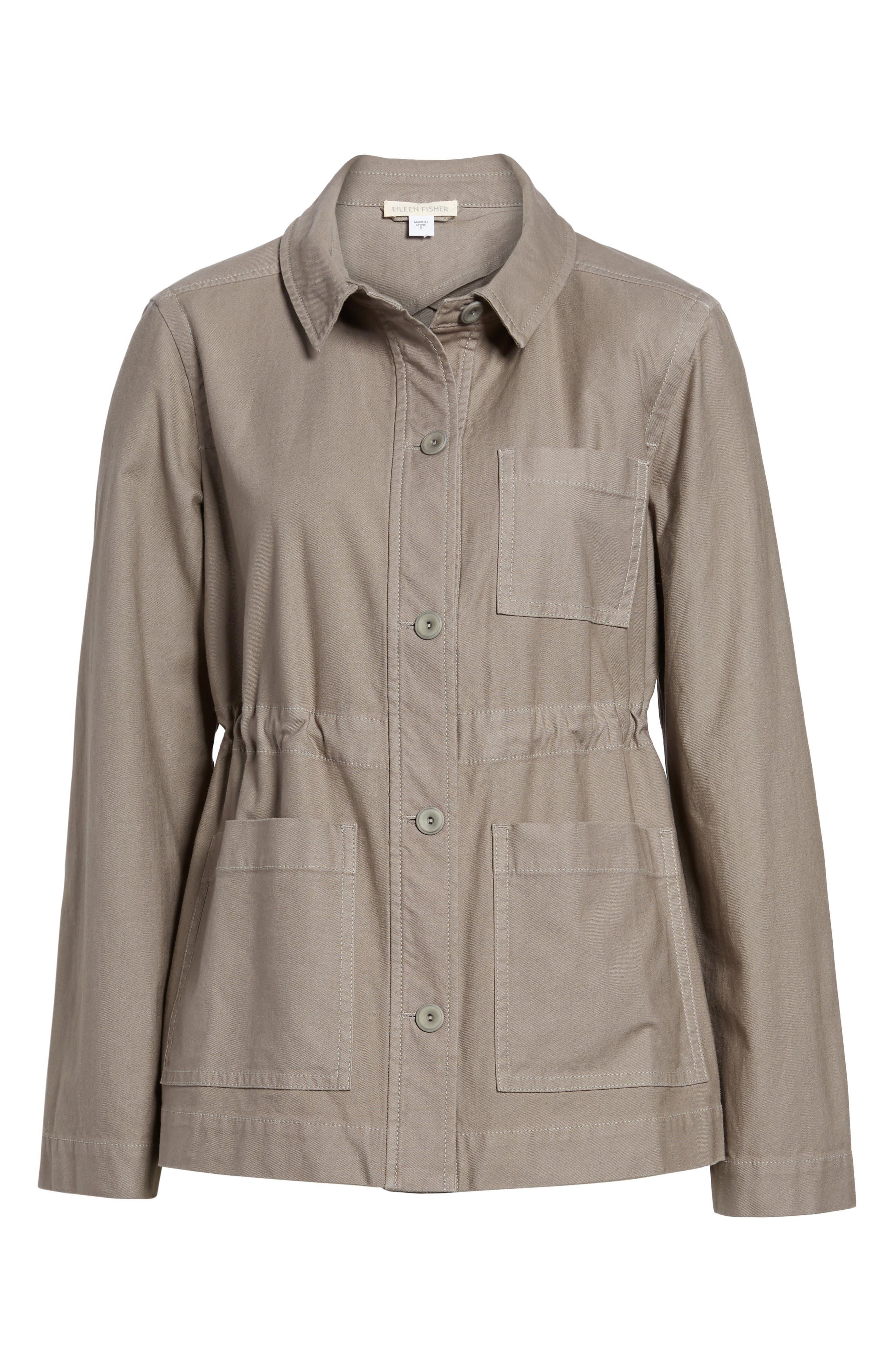 Alternate Image 6  - Eileen Fisher Twill Utility Jacket