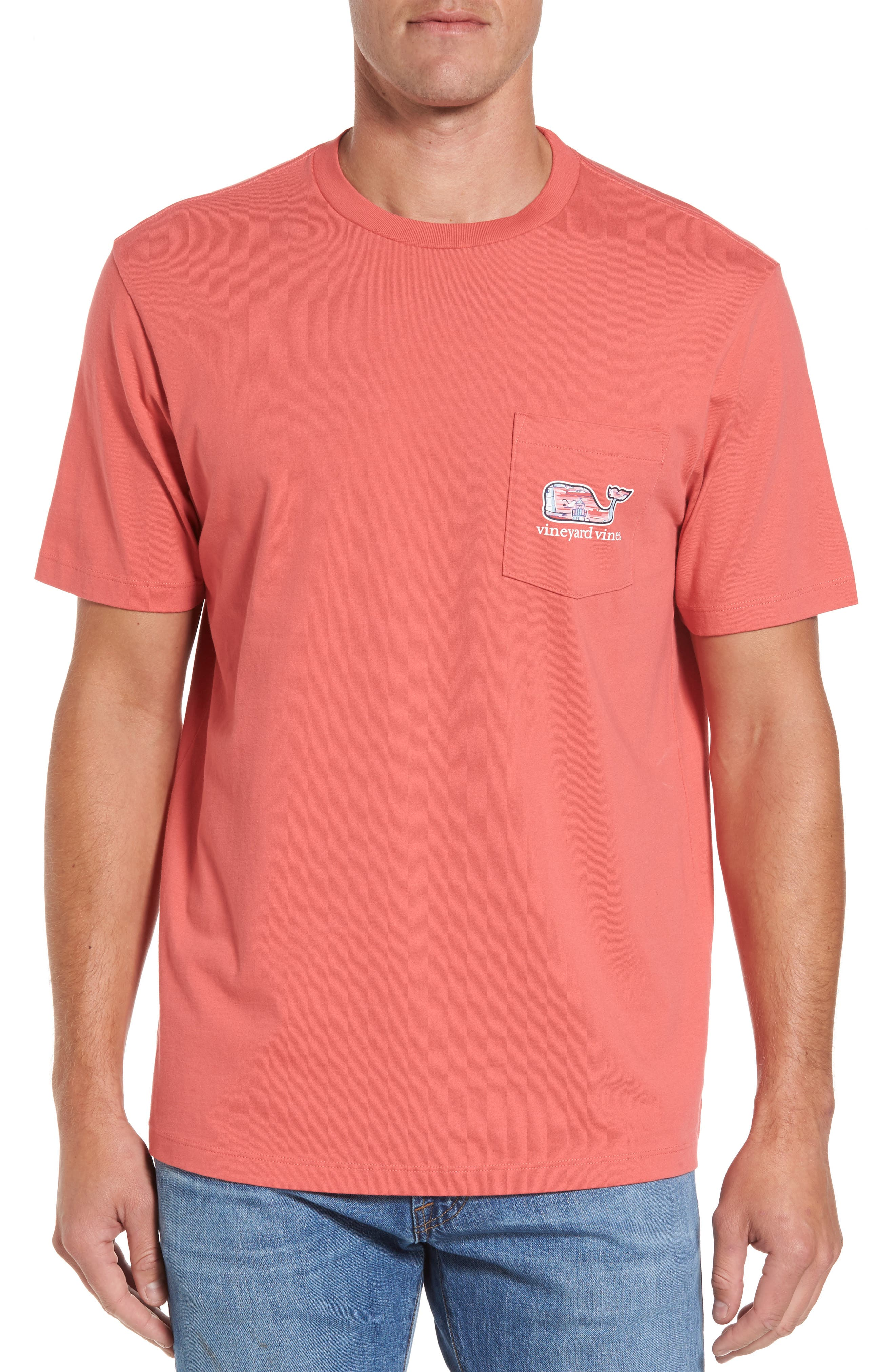 Alternate Image 2  - vineyard vines Lighthouse Whale Pocket T-Shirt