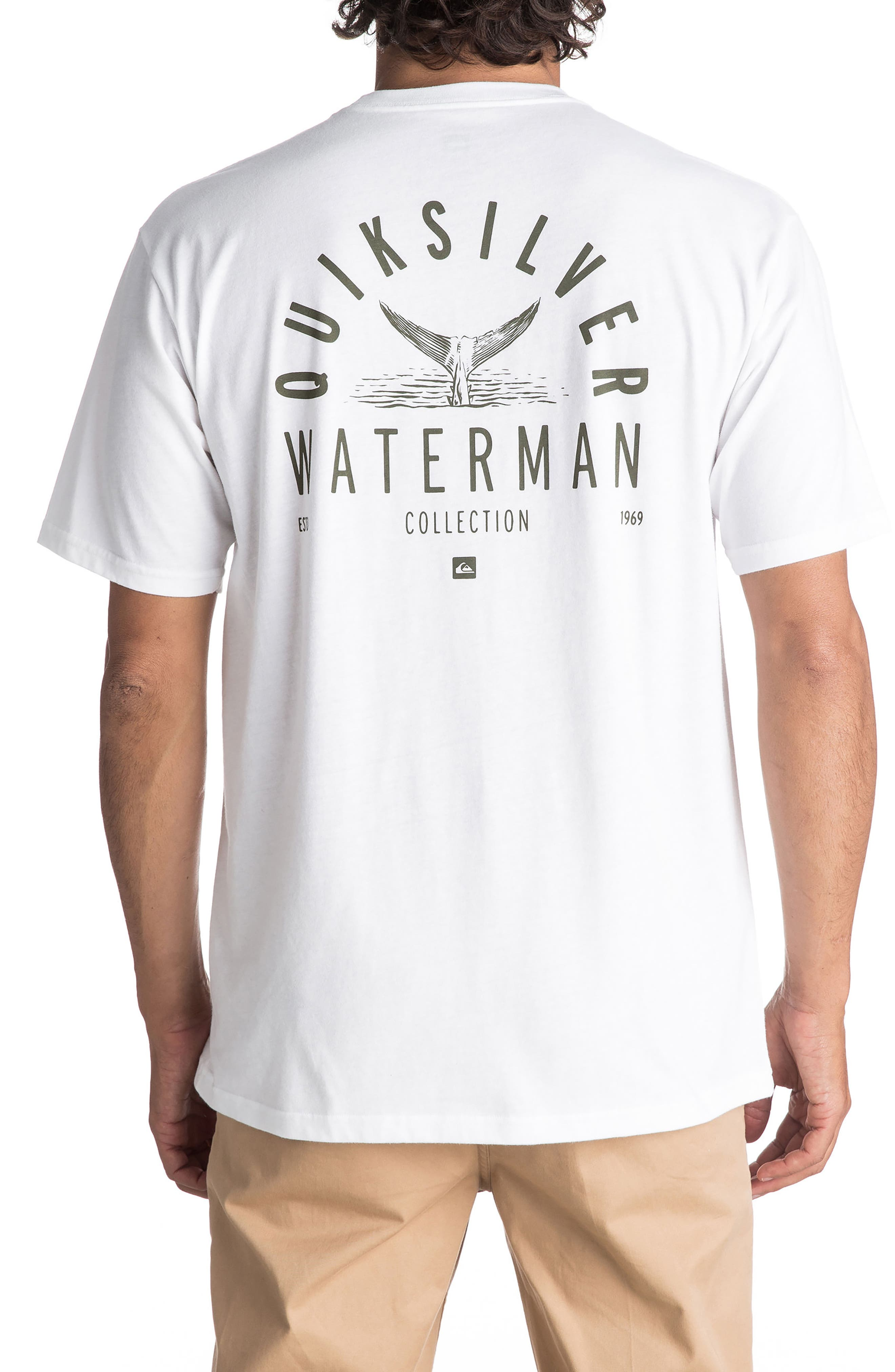Water Way of Life T-Shirt,                             Alternate thumbnail 2, color,                             White