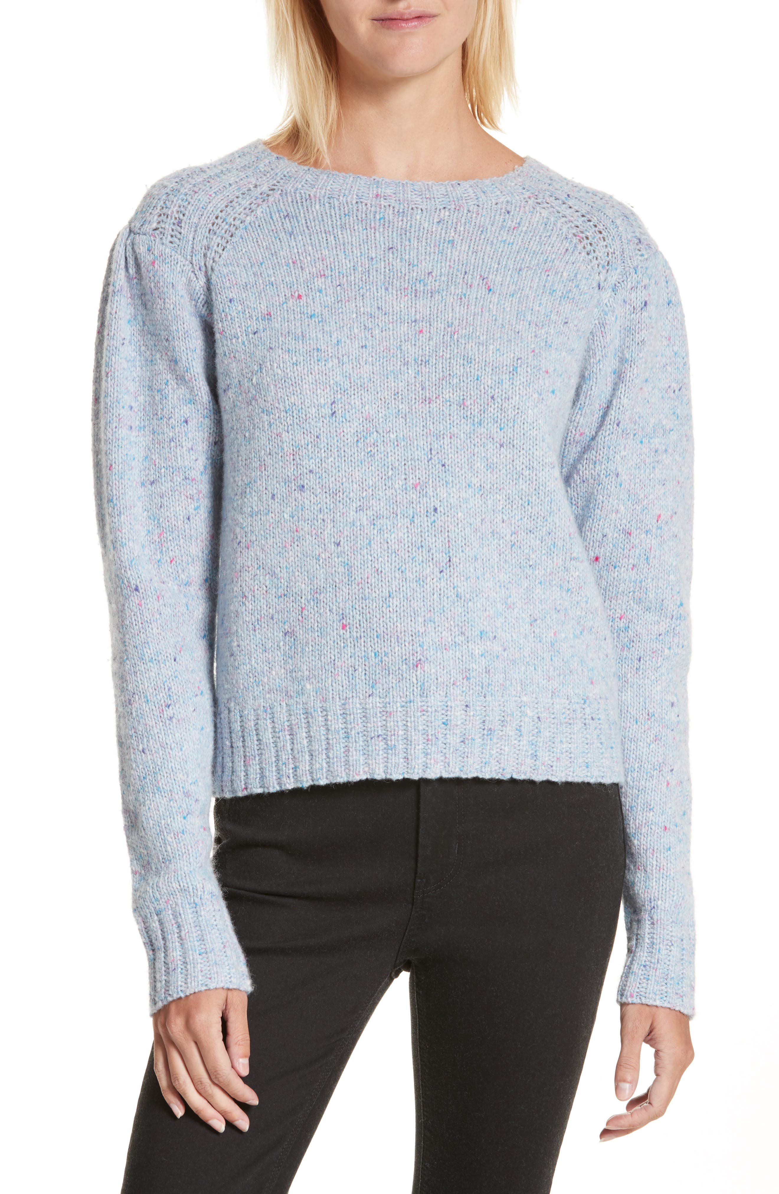 Donegal Tweed Pullover,                         Main,                         color, Blue Bell