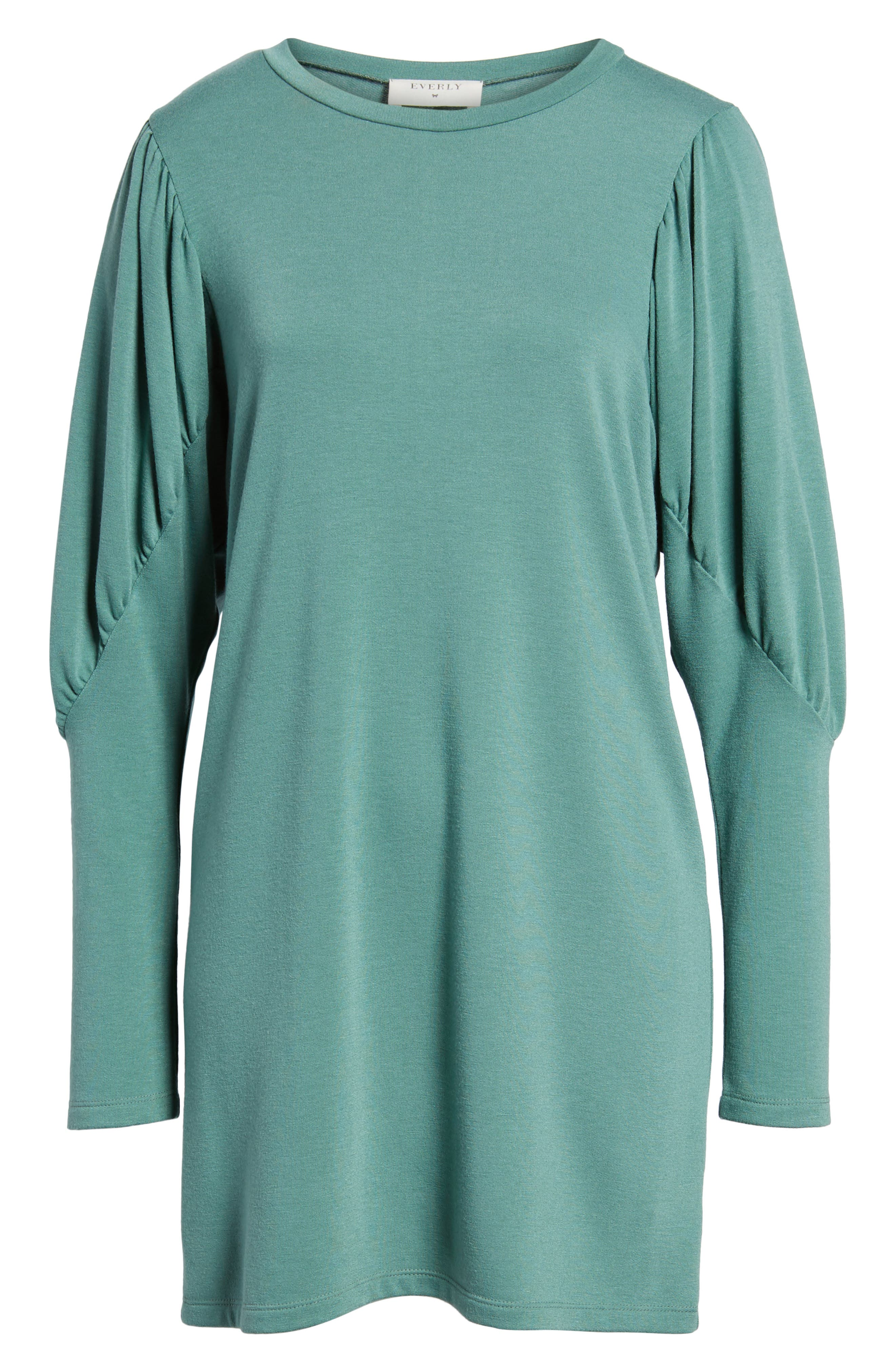 Alternate Image 1 Selected - Everly Statement Sleeve Sweatshirt Dress