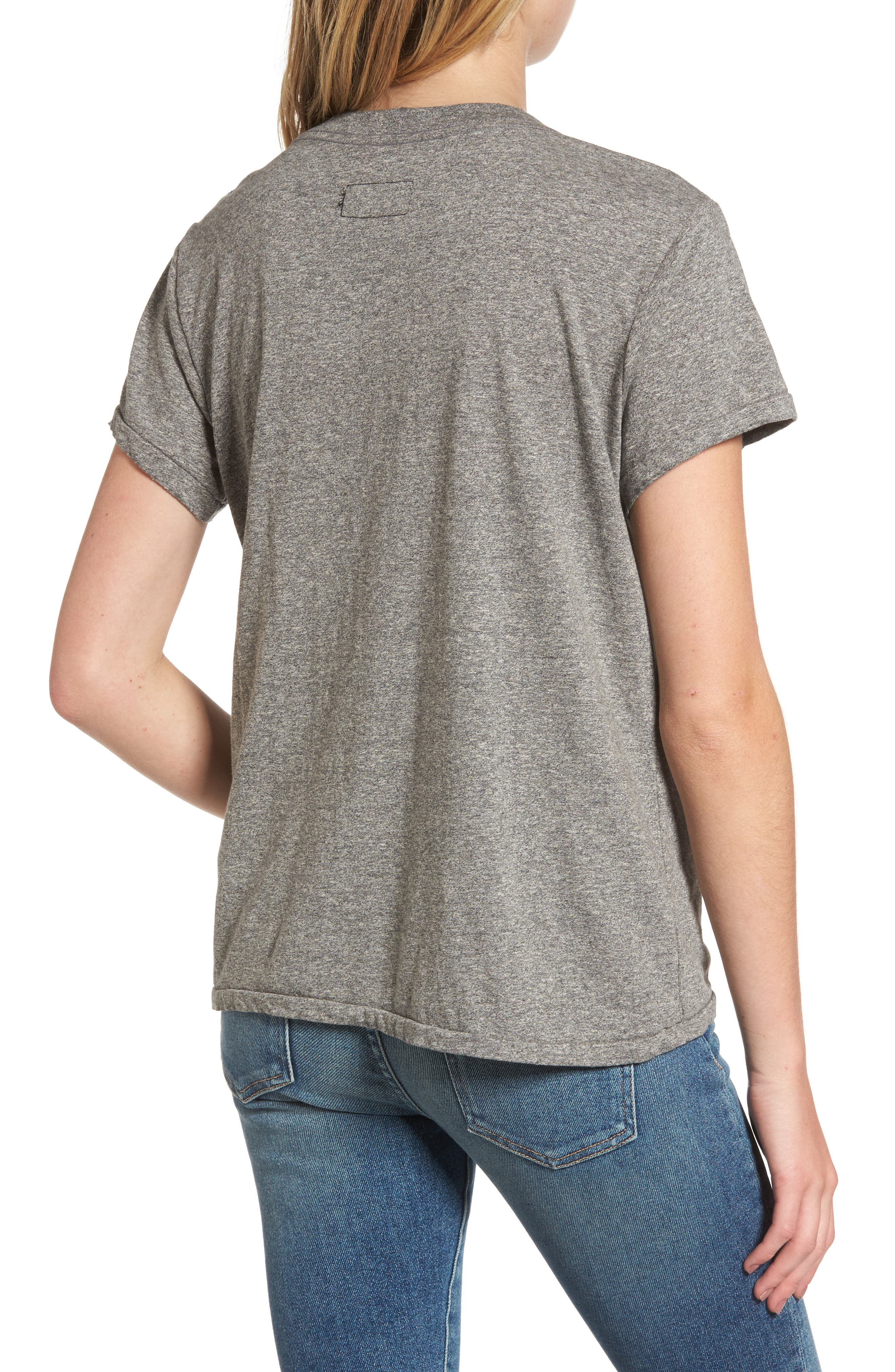 'The V-Neck' Tee,                             Alternate thumbnail 2, color,                             Heather Grey