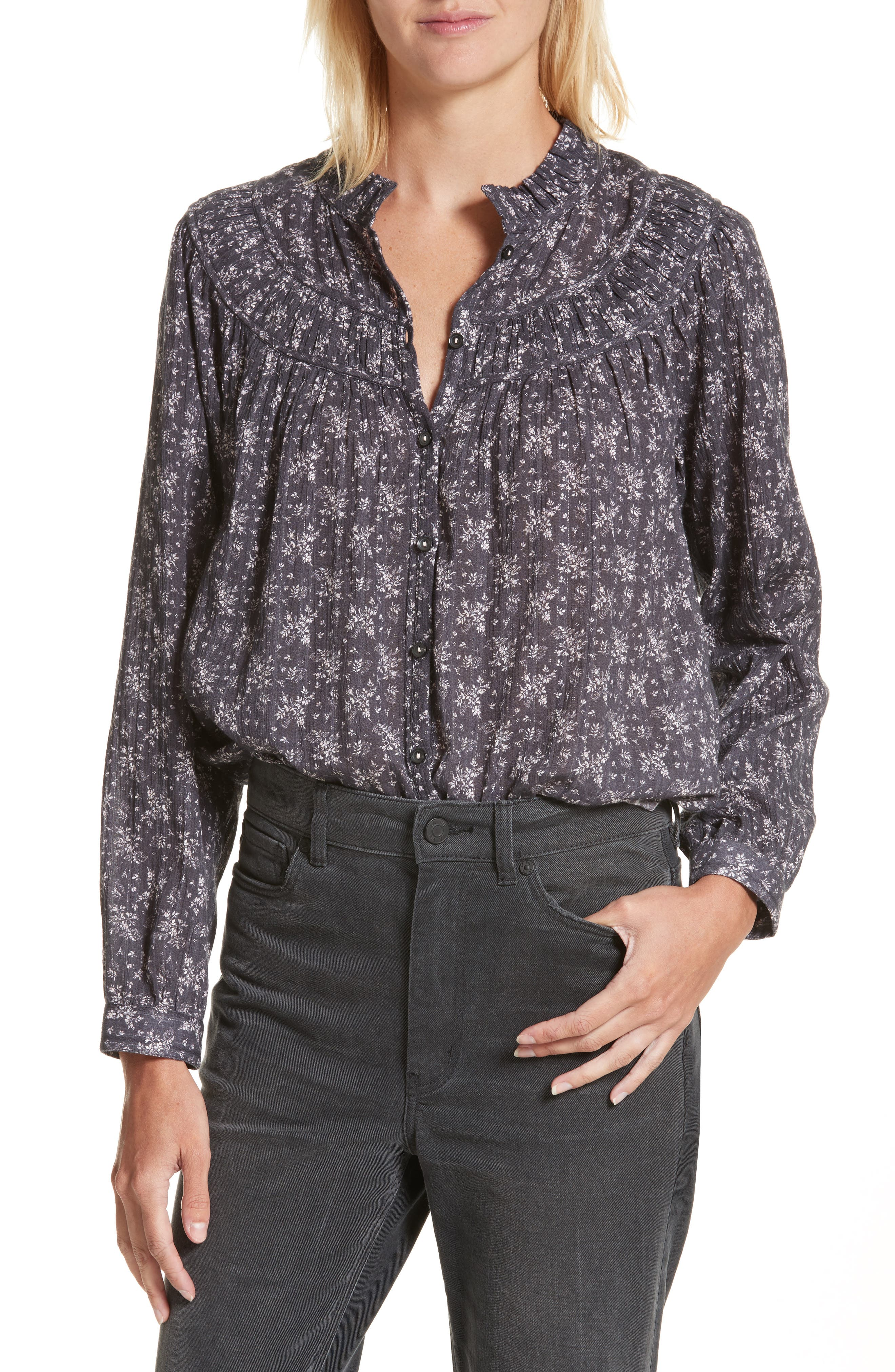 Main Image - La Vie Rebecca Taylor Angelique Long Sleeve Top