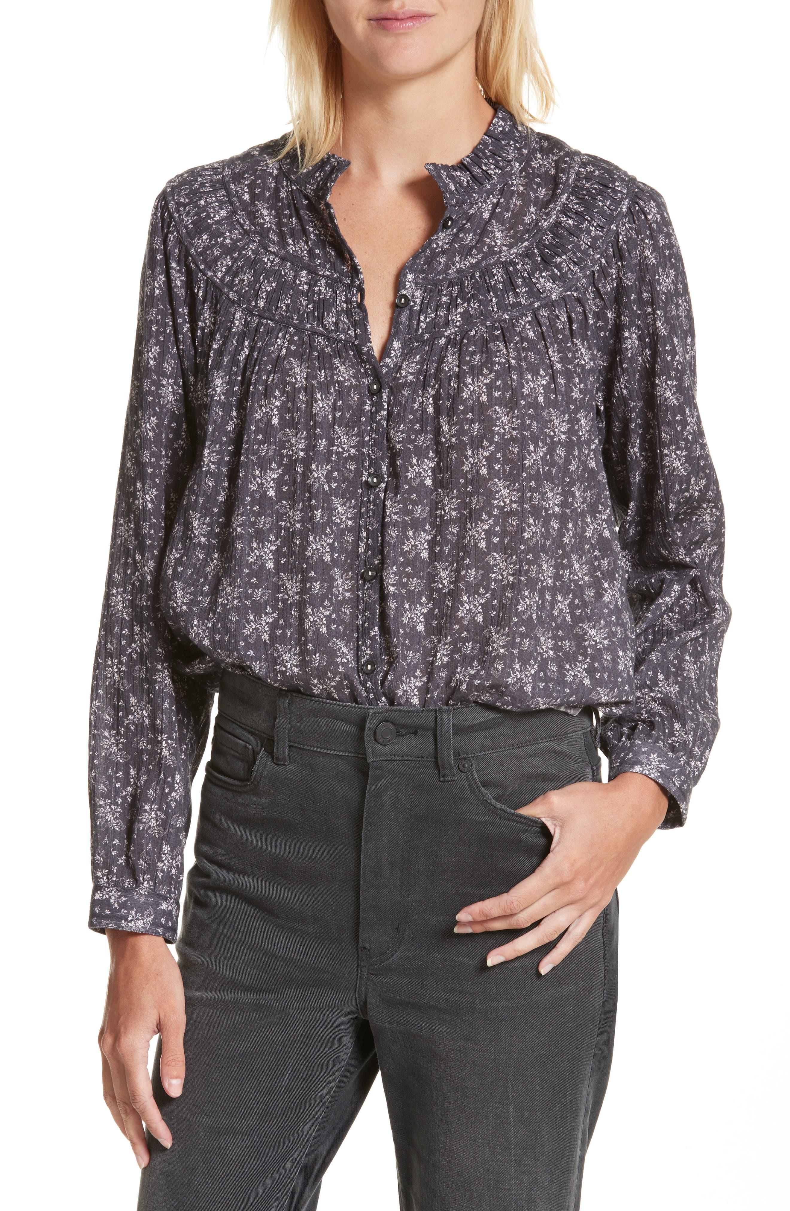 Angelique Long Sleeve Top,                         Main,                         color, Black Combo