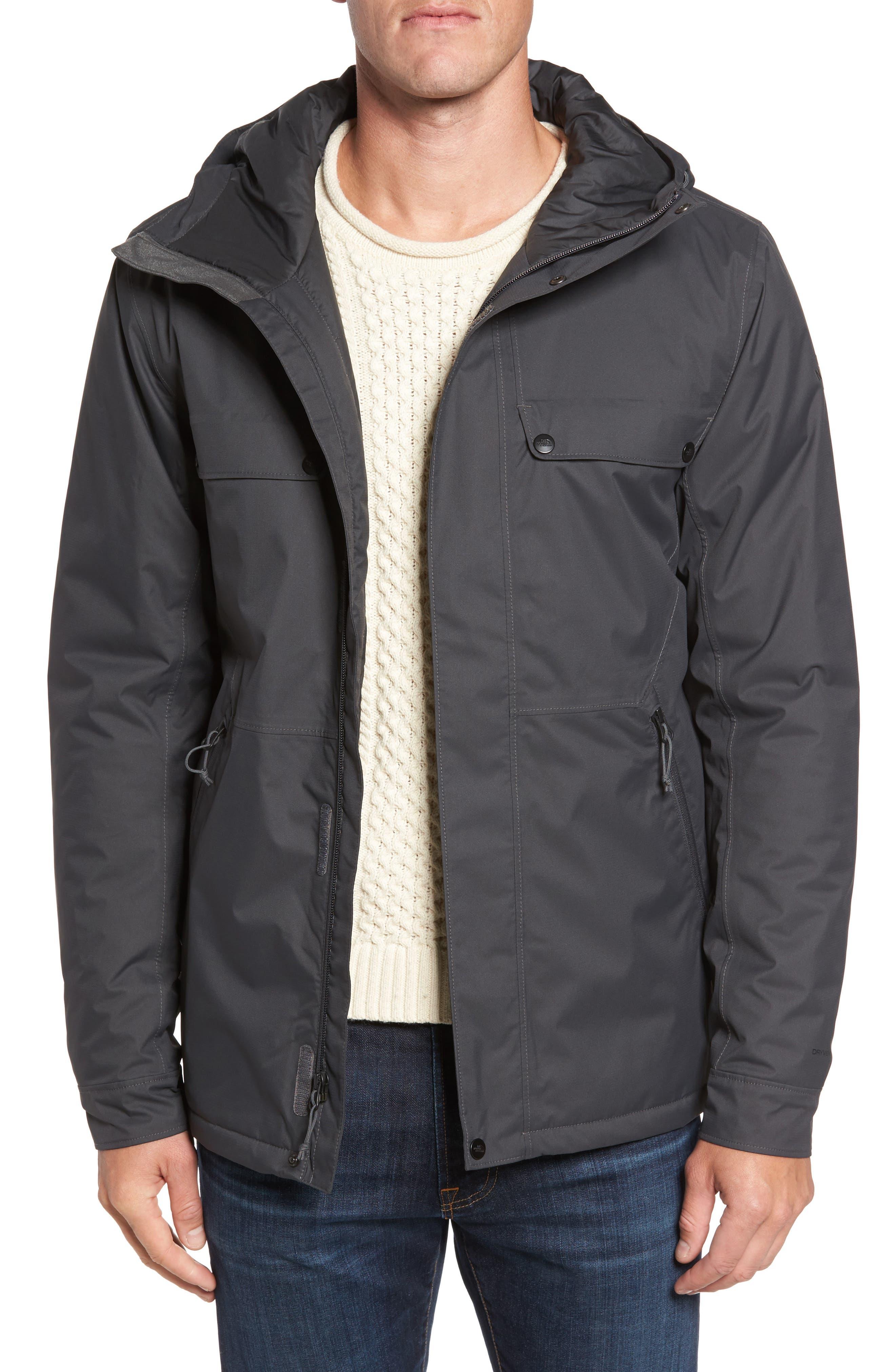 Jenison Insulated Waterproof Jacket,                         Main,                         color, Grey