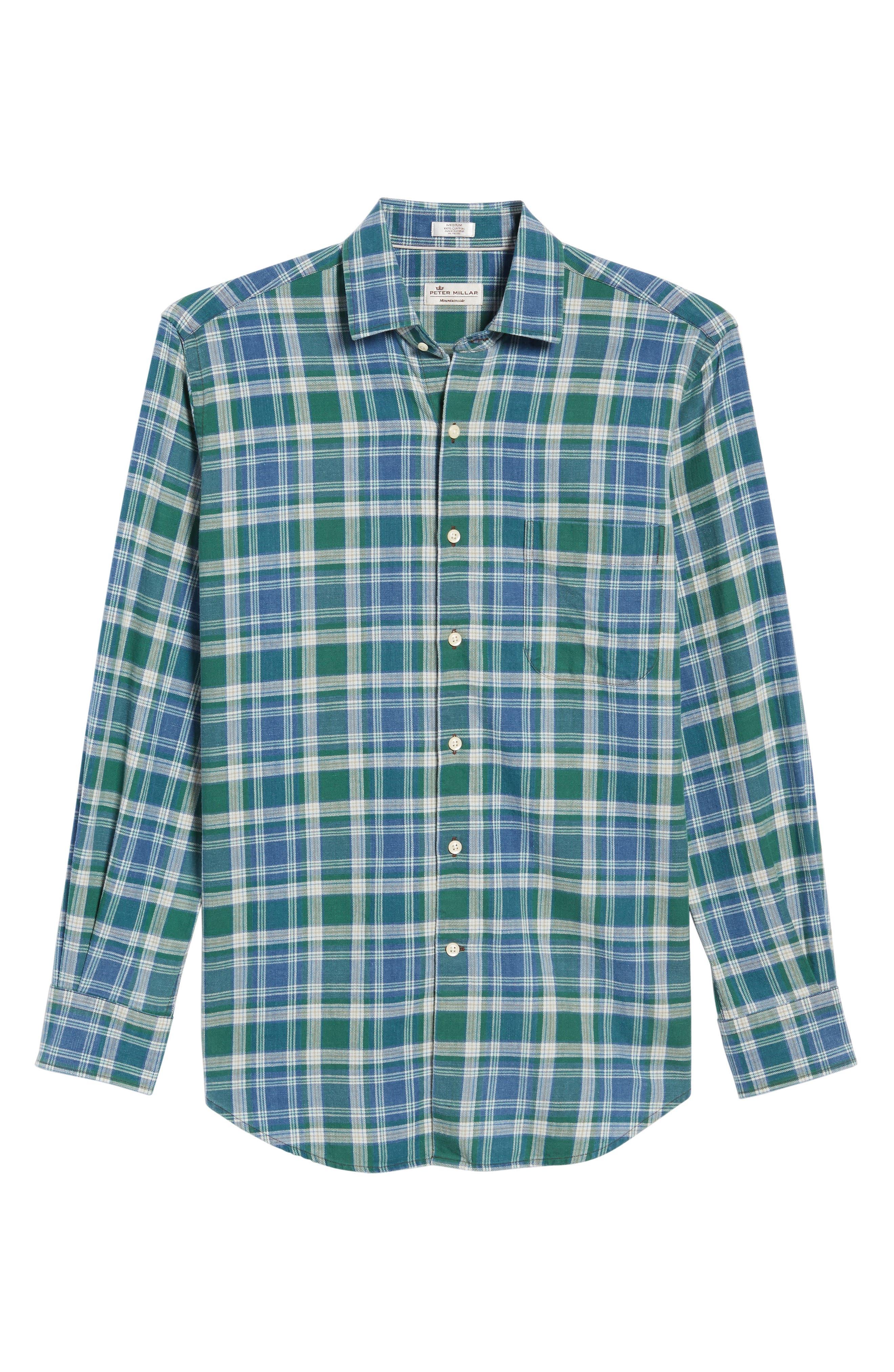 Alternate Image 6  - Peter Millar Rocky Regular Fit Plaid Sport Shirt