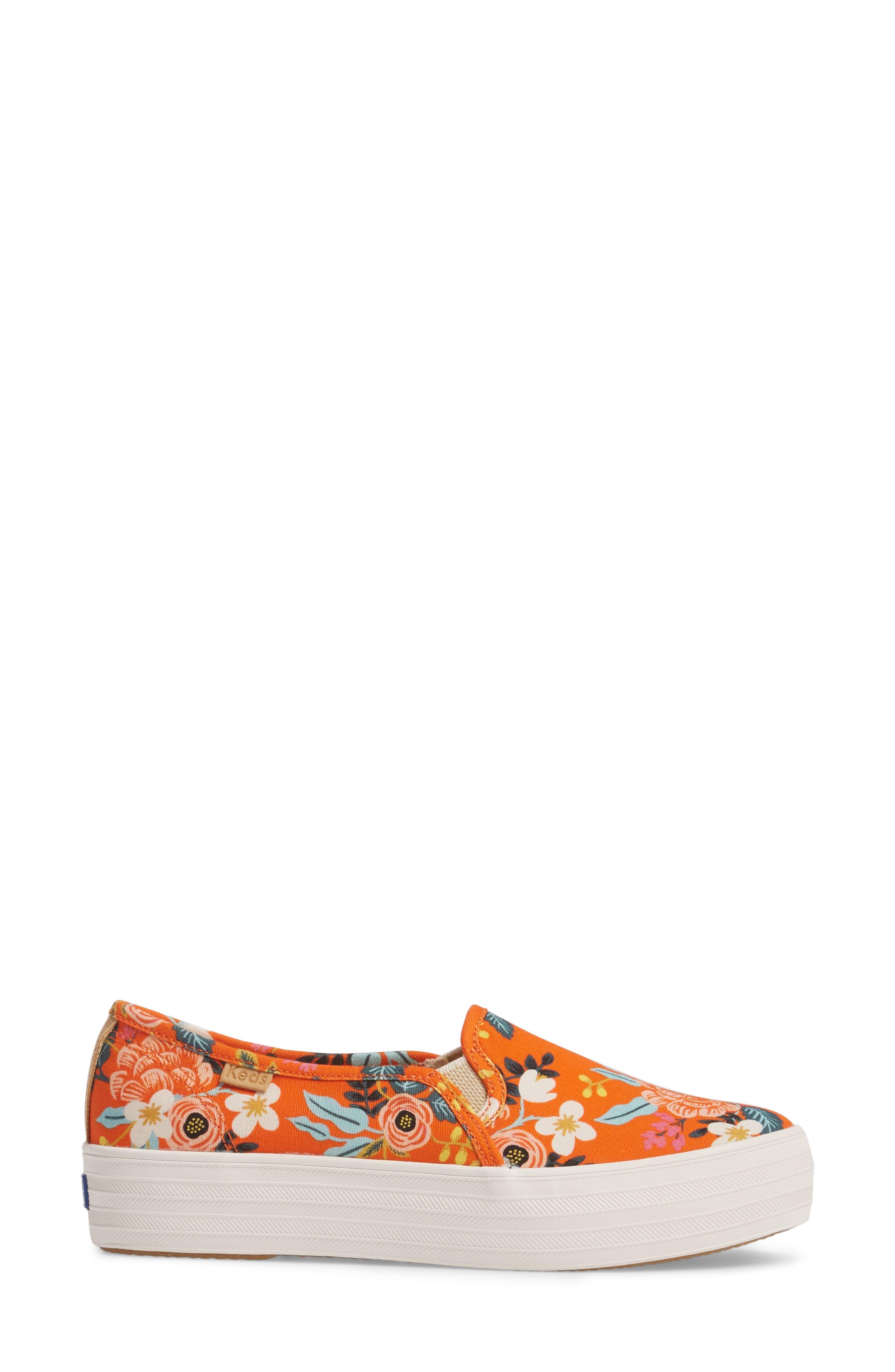 Alternate Image 3  - Keds® x Rifle Paper Co. Birch Triple Decker Slip-On Sneaker (Women)