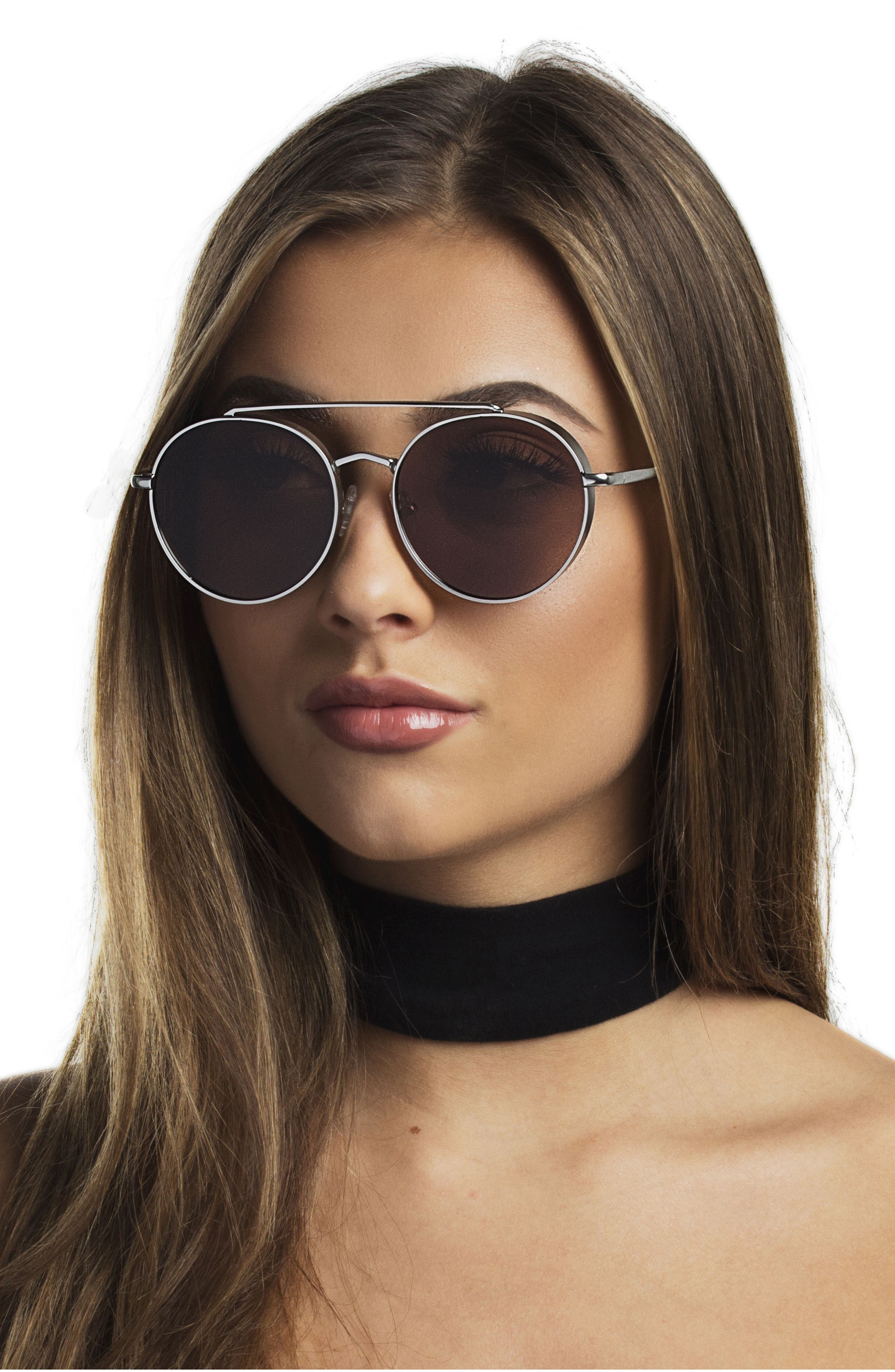 Alternate Image 3  - Bonnie Clyde Olympic 53mm Polarized Aviator Sunglasses