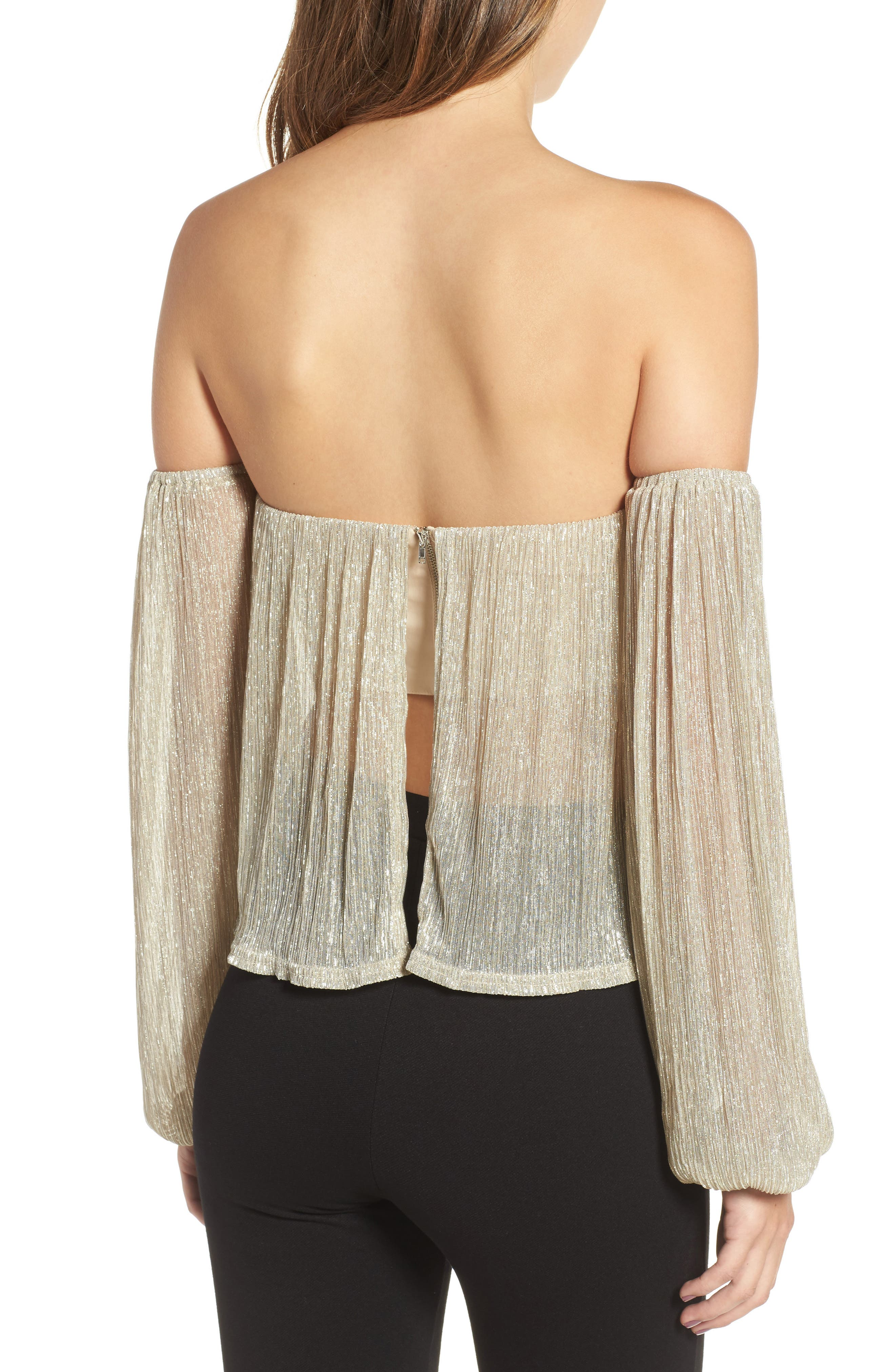 Alternate Image 2  - 4SI3NNA Off the Shoulder Top