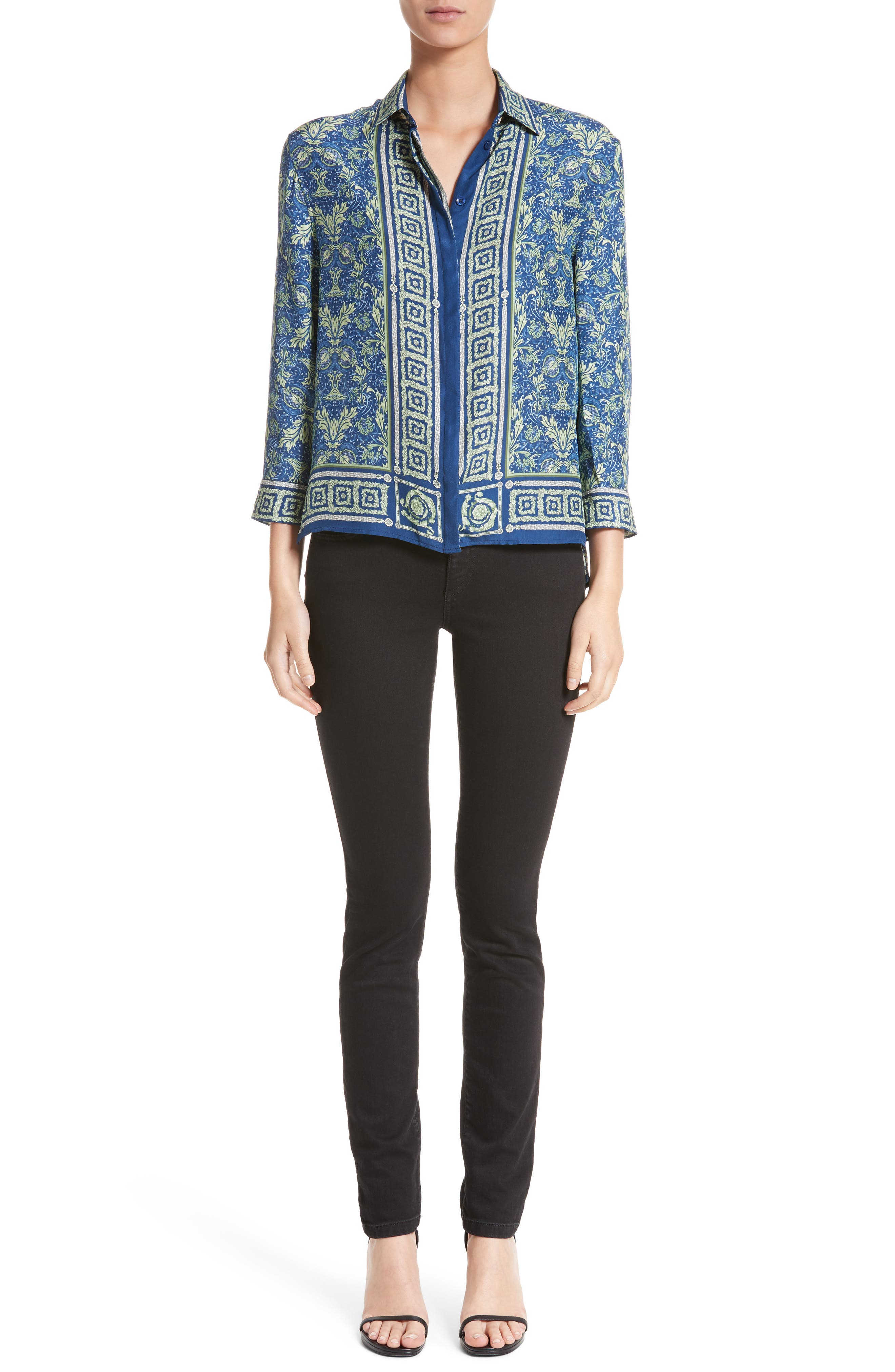 Alternate Image 13  - Versace Collection Embellished Pocket Skinny Jeans