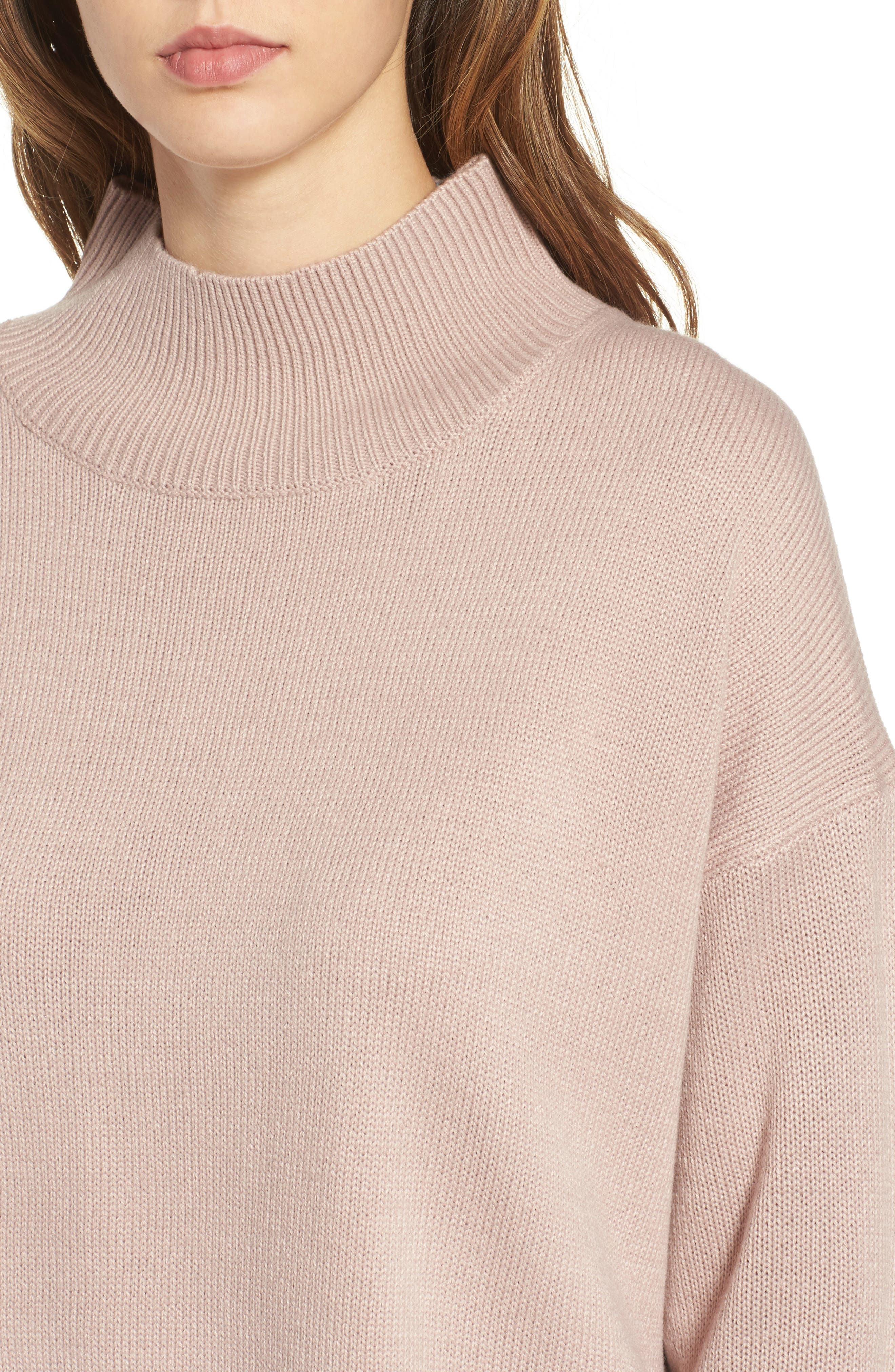 Oversize Sweater,                             Alternate thumbnail 4, color,                             Pink