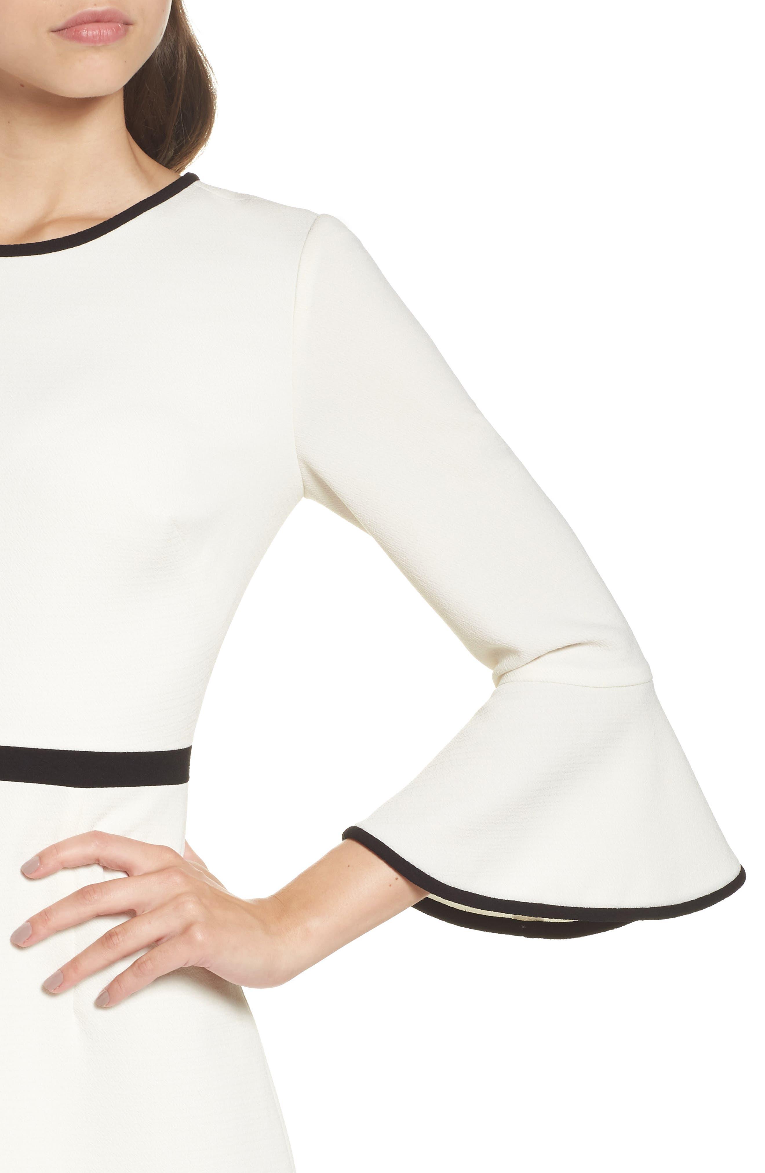 Alternate Image 5  - Eliza J Fit & Flare Dress (Regular & Petite)