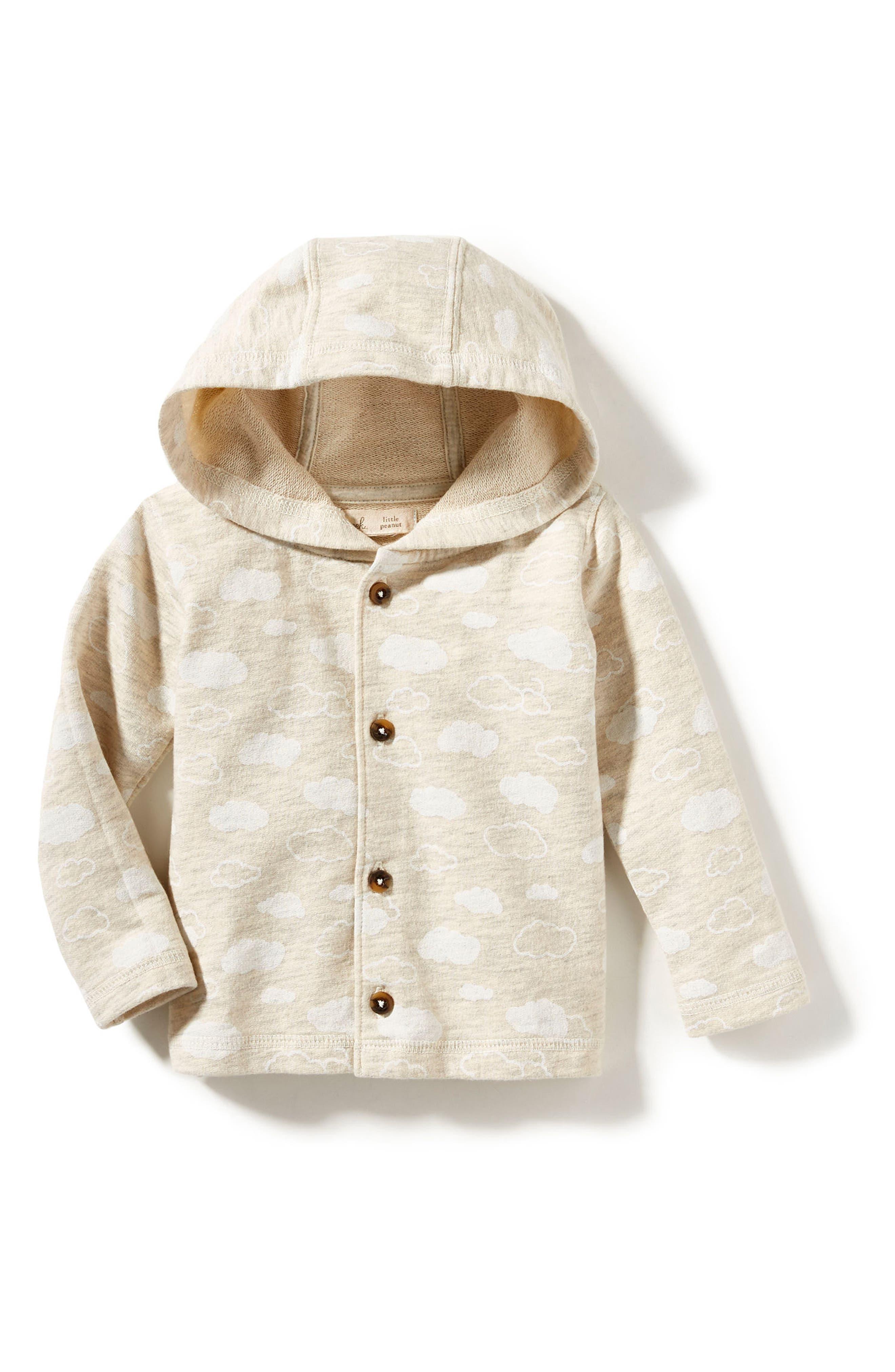 Peek Cloud Hooded Jacket,                         Main,                         color, Oatmeal