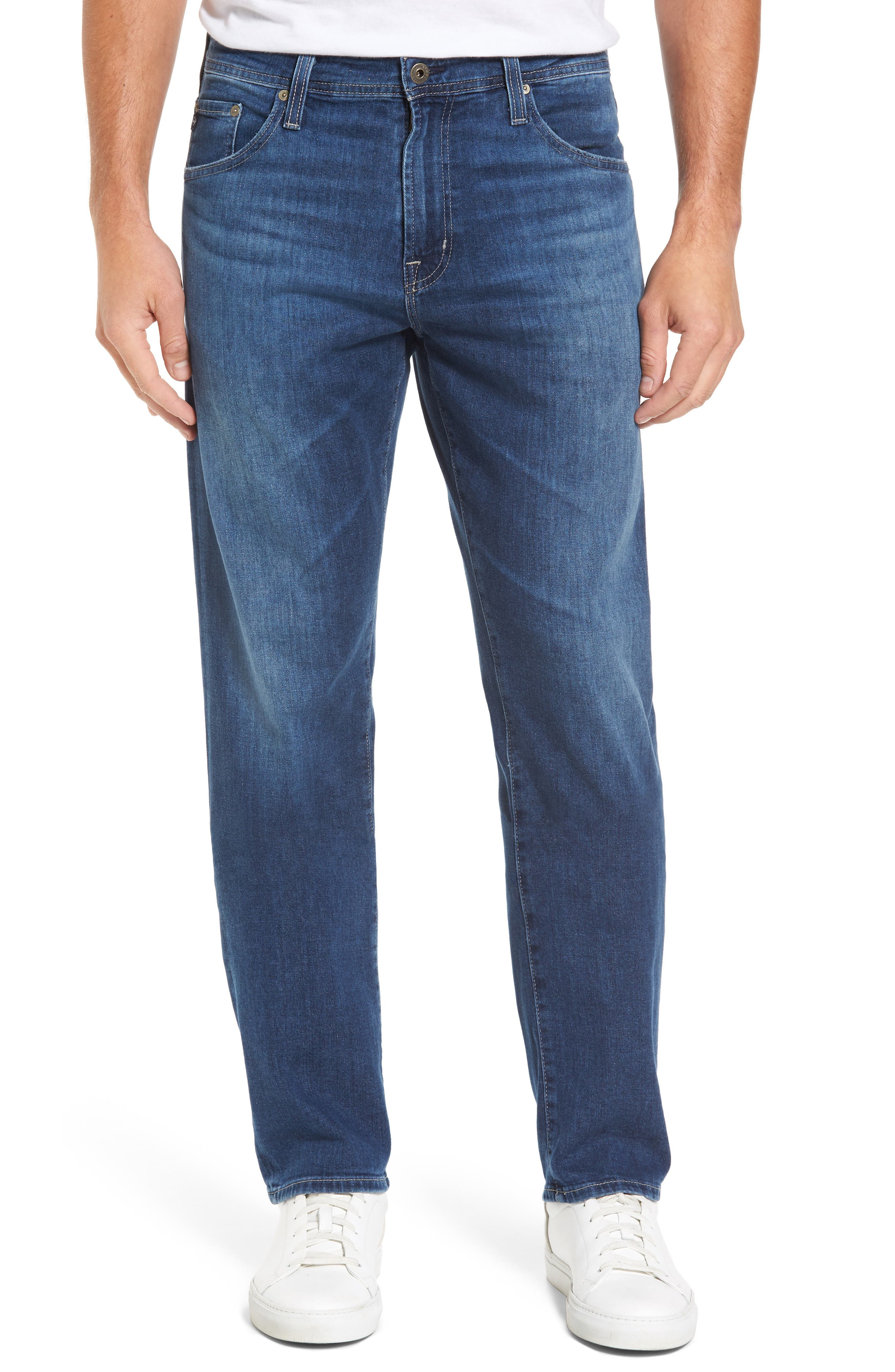 Main Image - AG Ives Straight Leg Jeans (Stately)