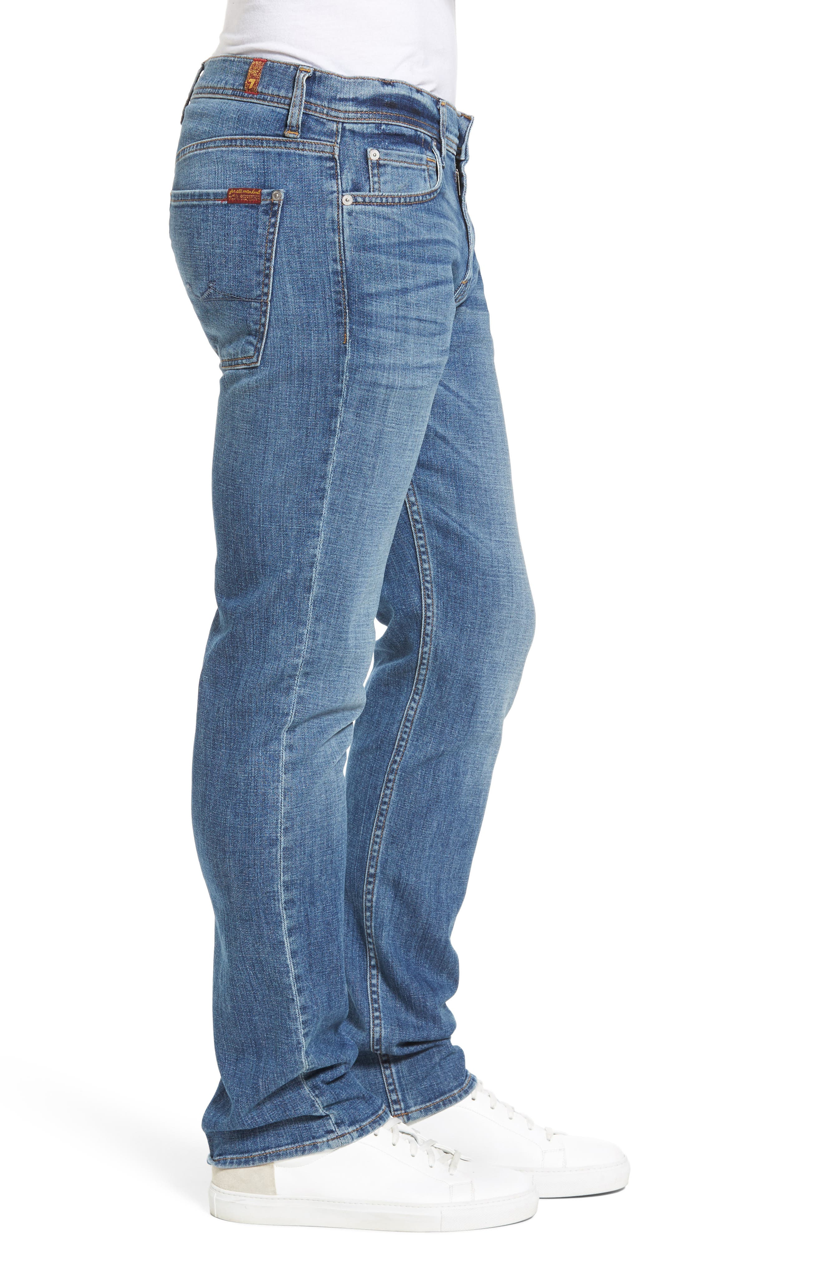 The Standard Straight Fit Jeans,                             Alternate thumbnail 3, color,                             Robinson
