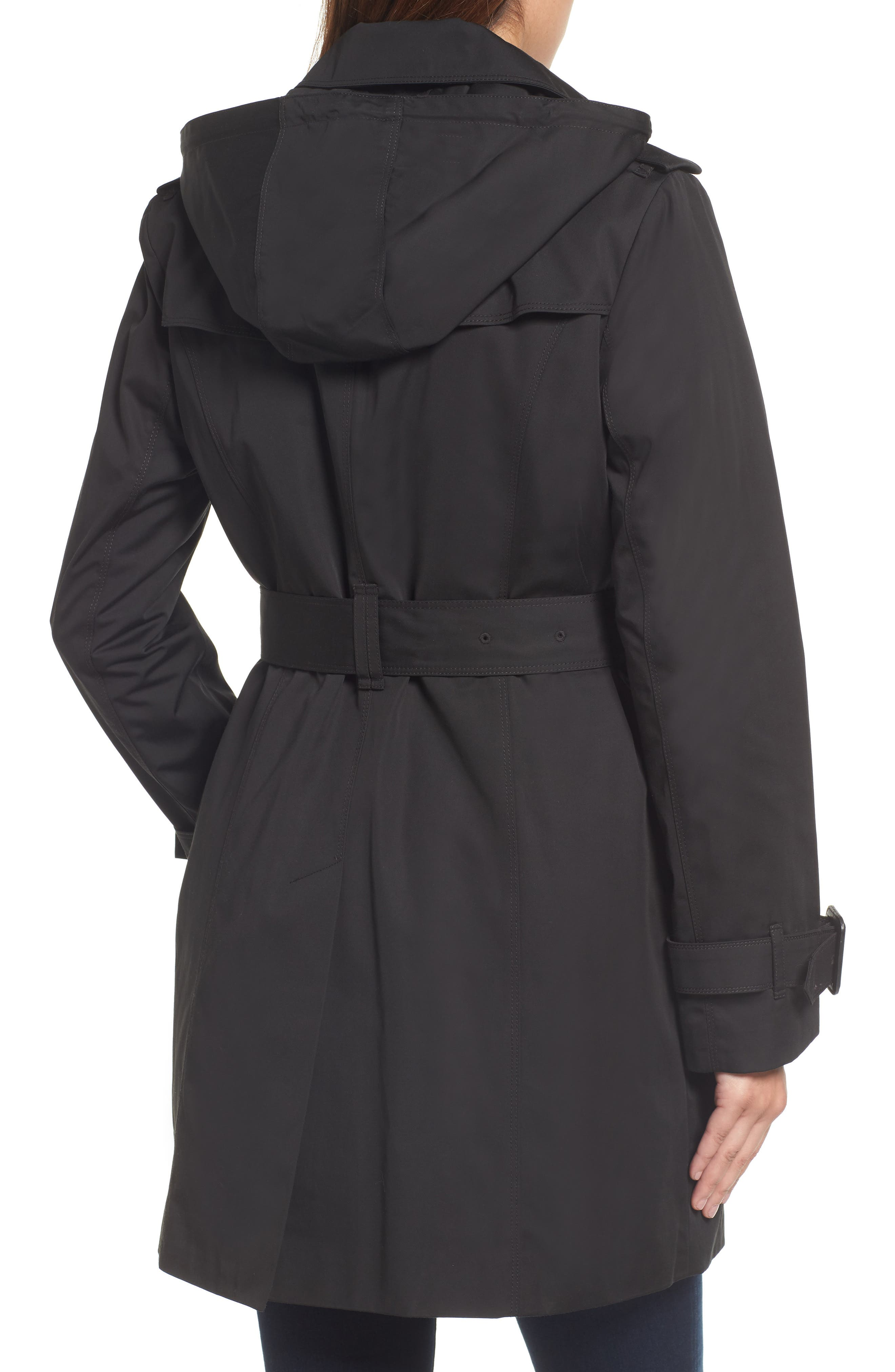 Heritage Trench Coat with Detachable Liner,                             Alternate thumbnail 2, color,                             Black