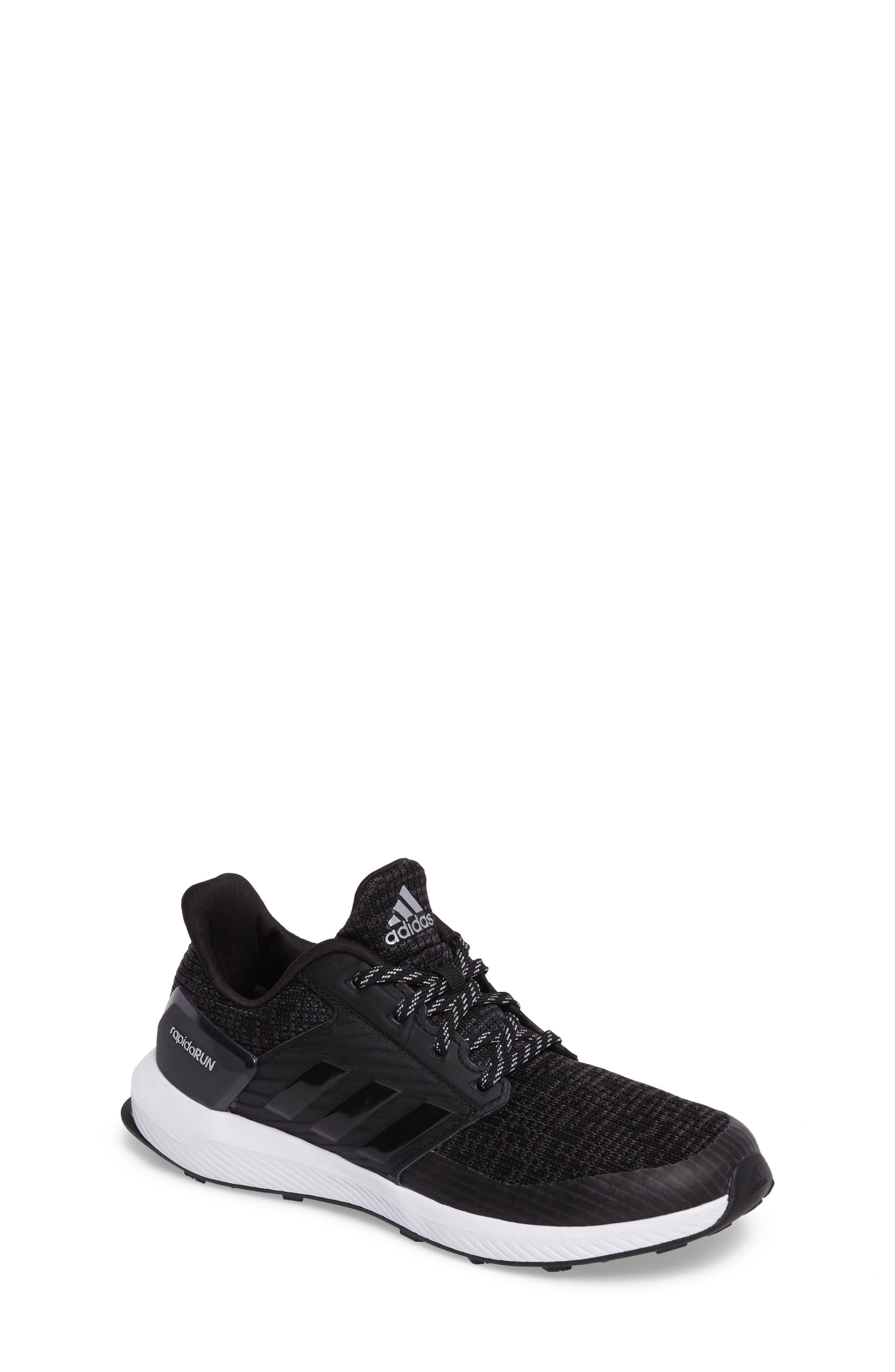 RapidaRUN Lux Sneaker,                         Main,                         color, Core Black/ White