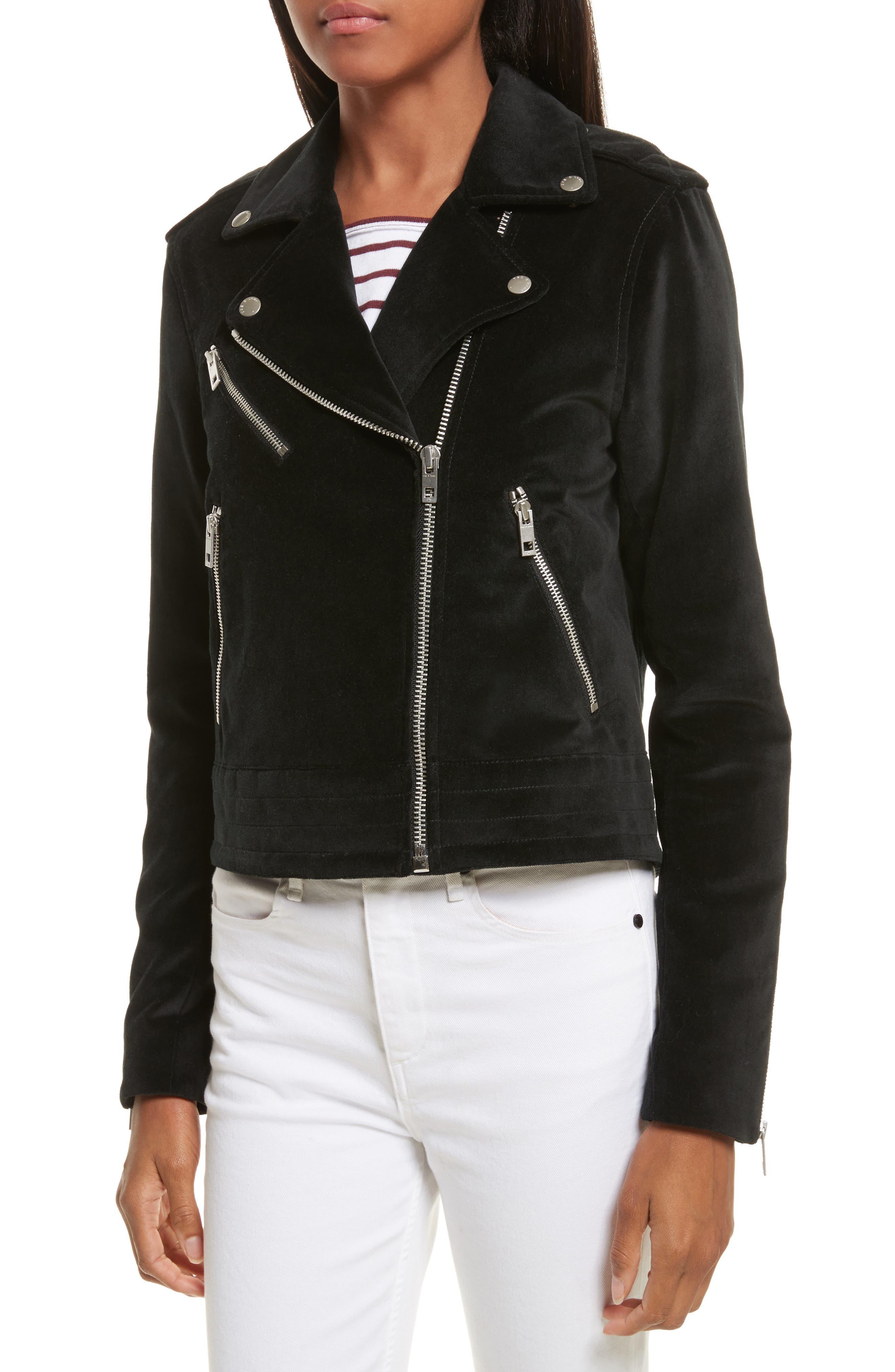Alternate Image 4  - rag & bone/JEAN Mercer Velvet Moto Jacket