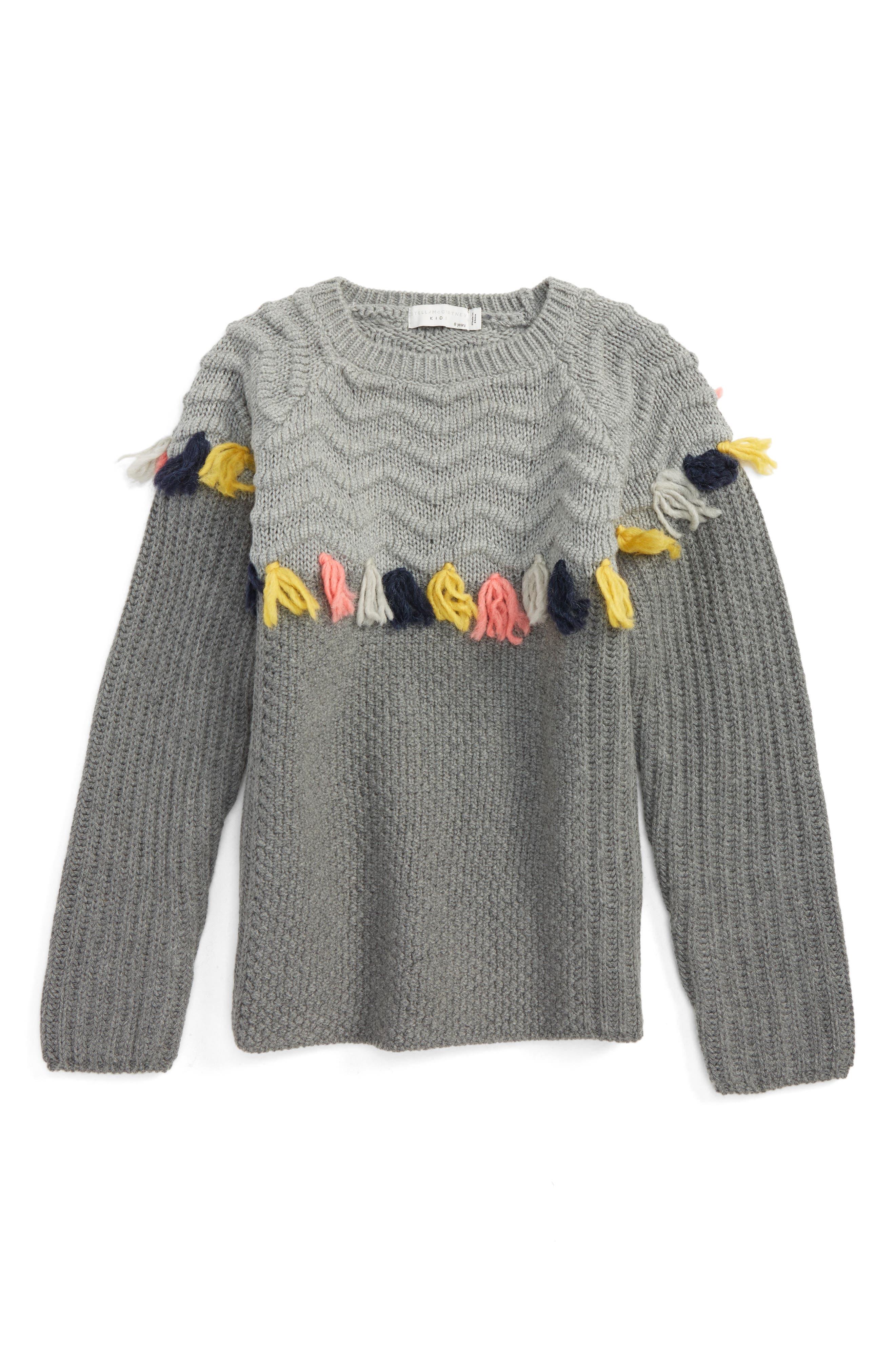 STELLA MCCARTNEY Tangerine Knit Tassel Sweater