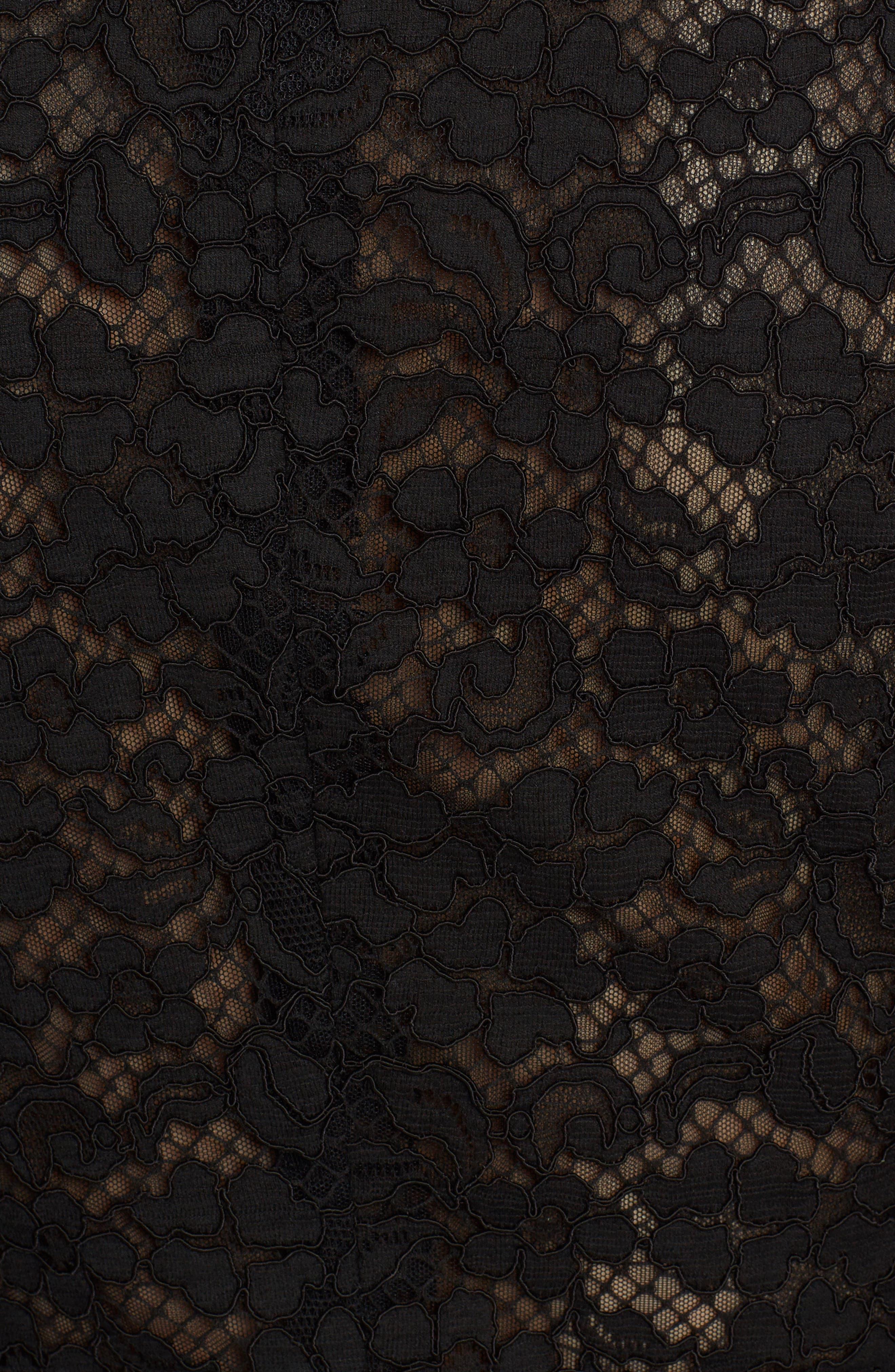 Heart Patch Lace Blazer,                             Alternate thumbnail 5, color,                             Black