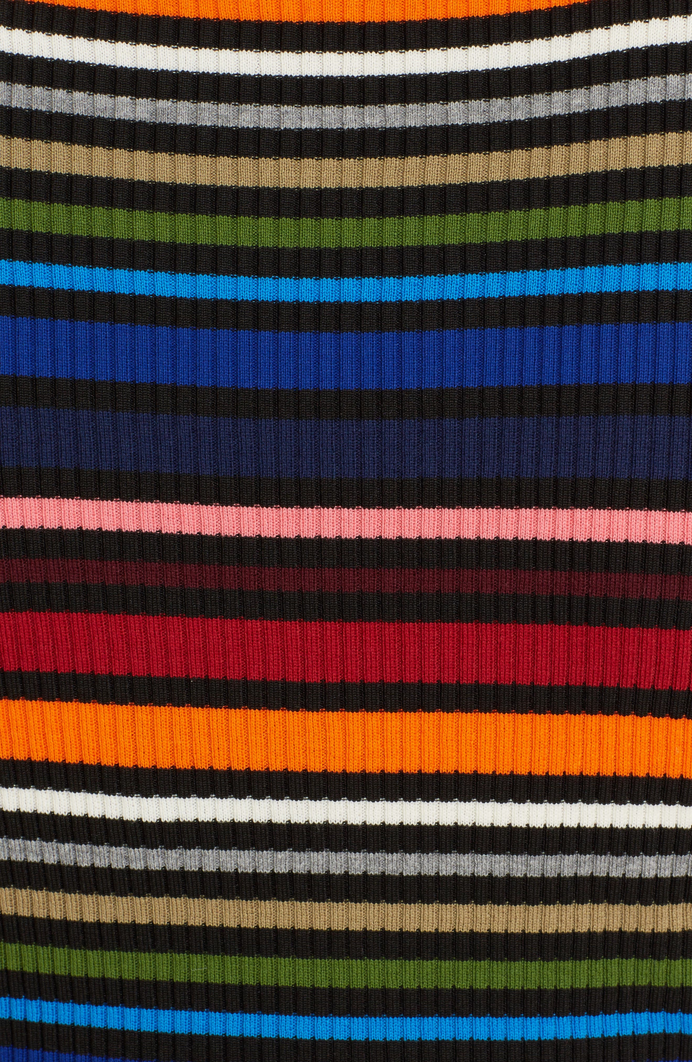 Stripe Sleeveless Sweater,                             Alternate thumbnail 5, color,                             Multi