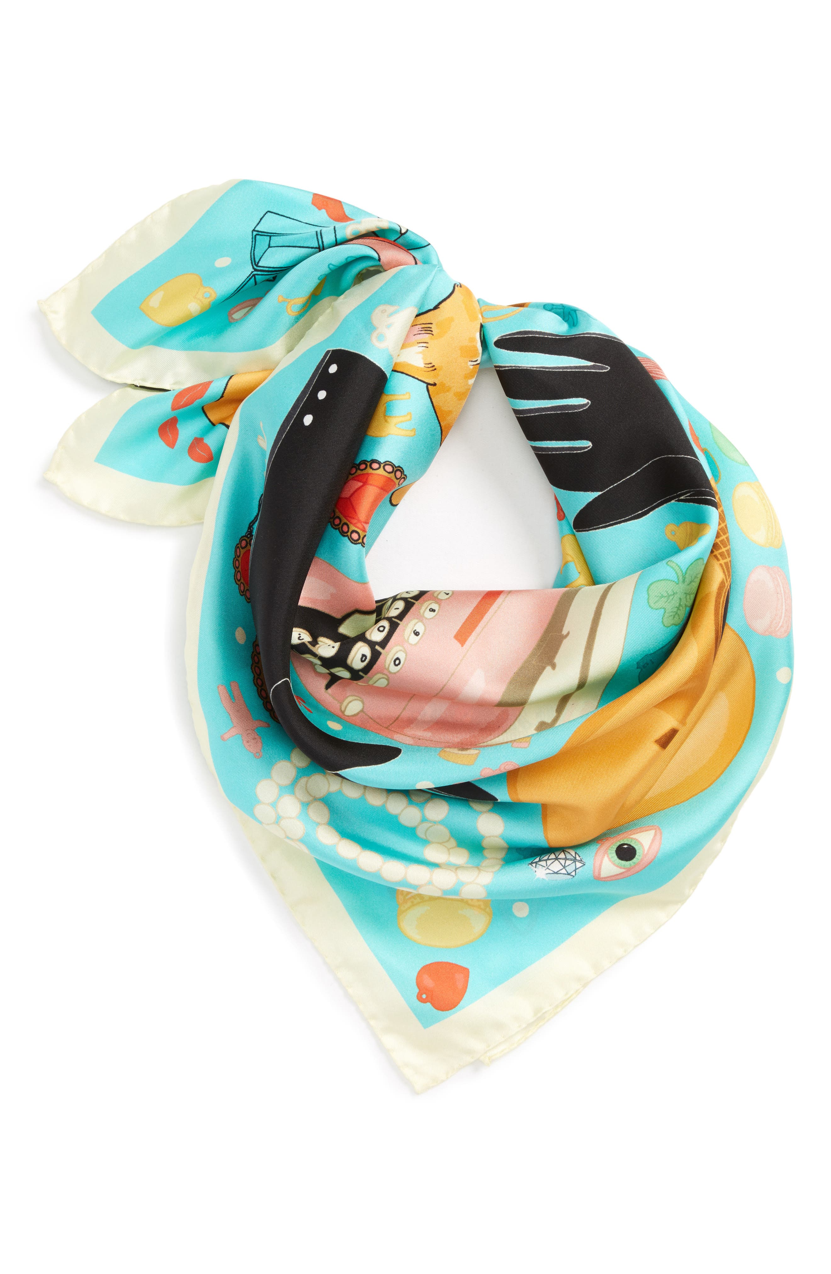 KAREN MABON Breakfast at Tiffanys Silk Scarf