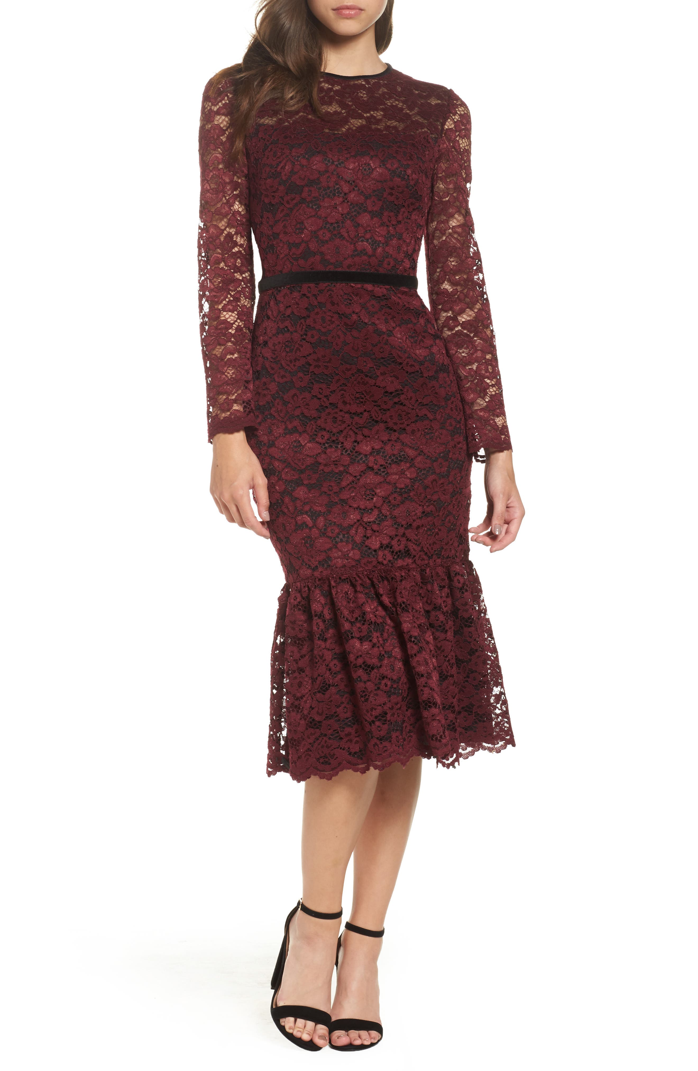 Maggy london gold lace dress