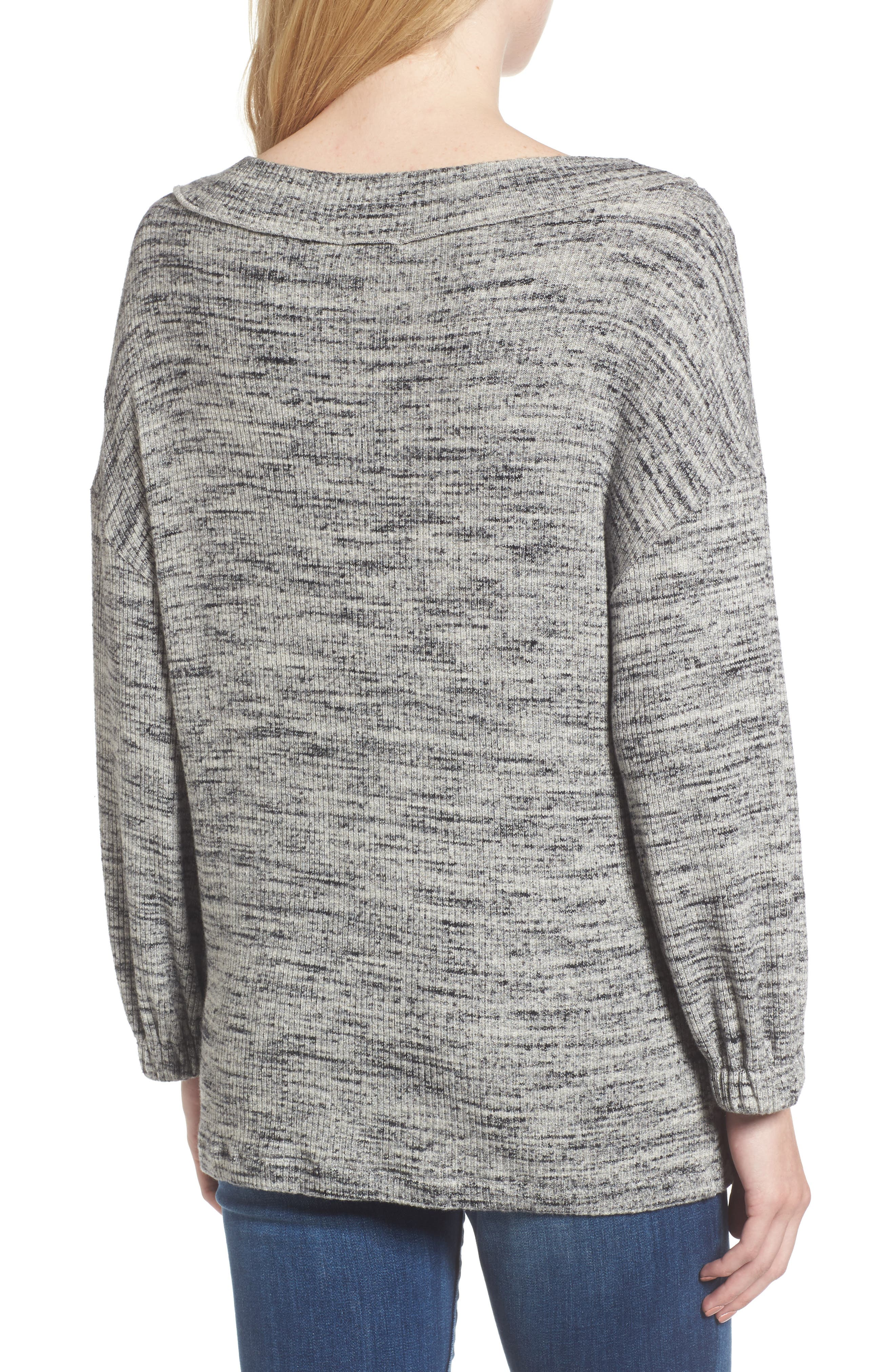 Triblend Ribbed Top,                             Alternate thumbnail 2, color,                             Heather Grey
