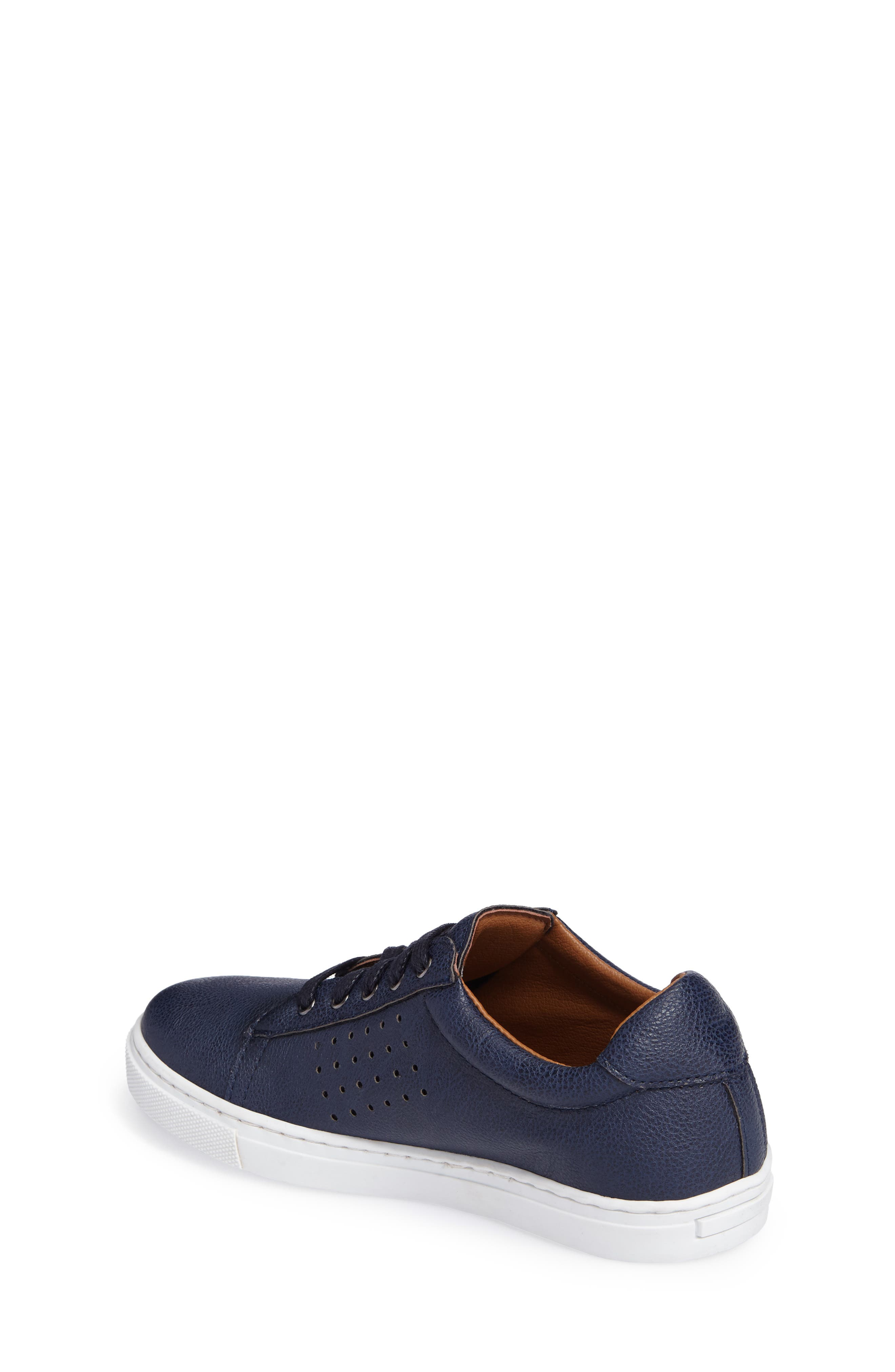 Grafte Perforated Sneaker,                             Alternate thumbnail 2, color,                             Navy