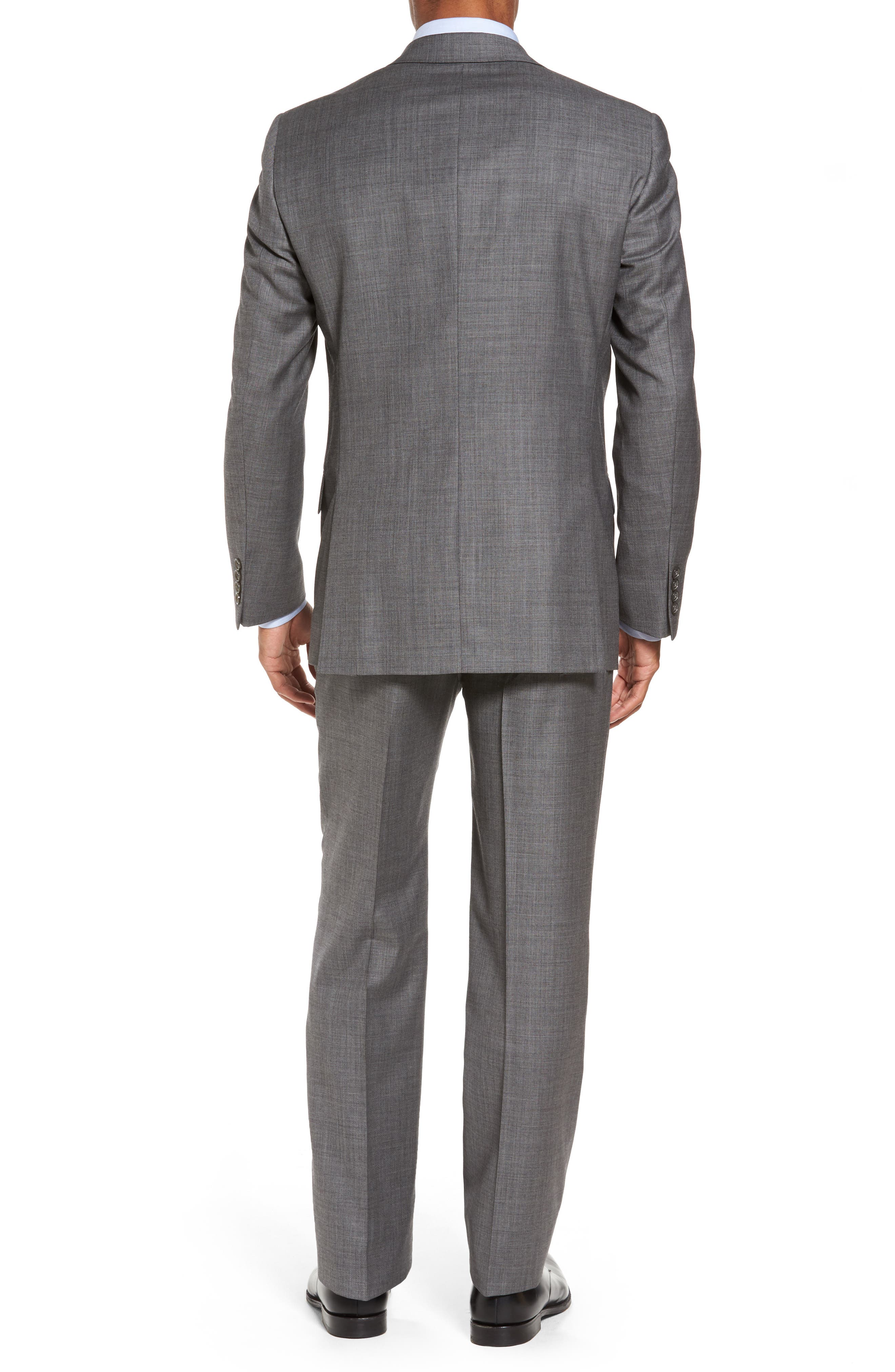 Classic Fit Solid Wool Suit,                             Alternate thumbnail 2, color,                             Med Grey