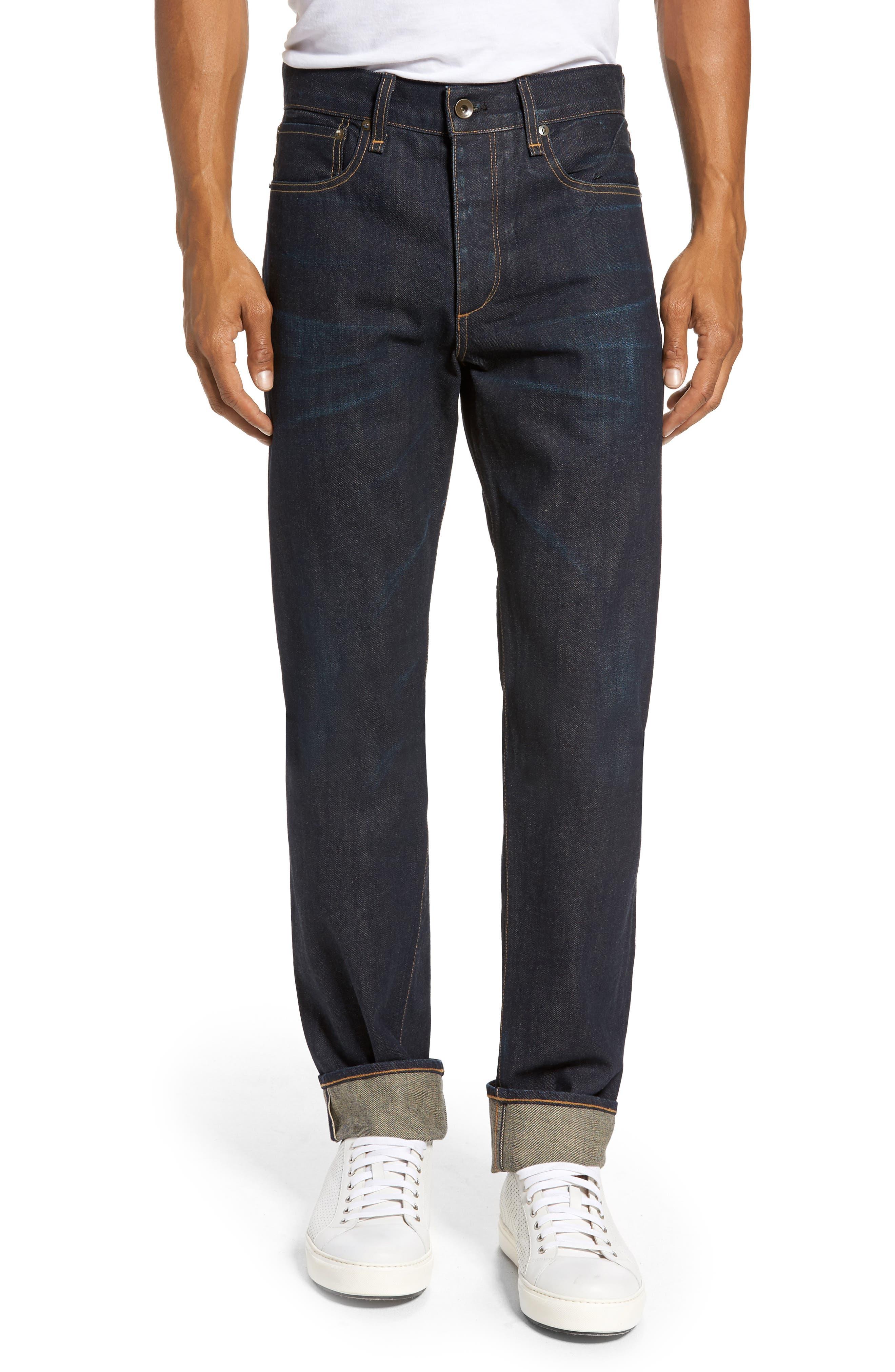 Main Image - rag & bone Fit 2 Slim Fit Jeans (Worn Olive Resin)