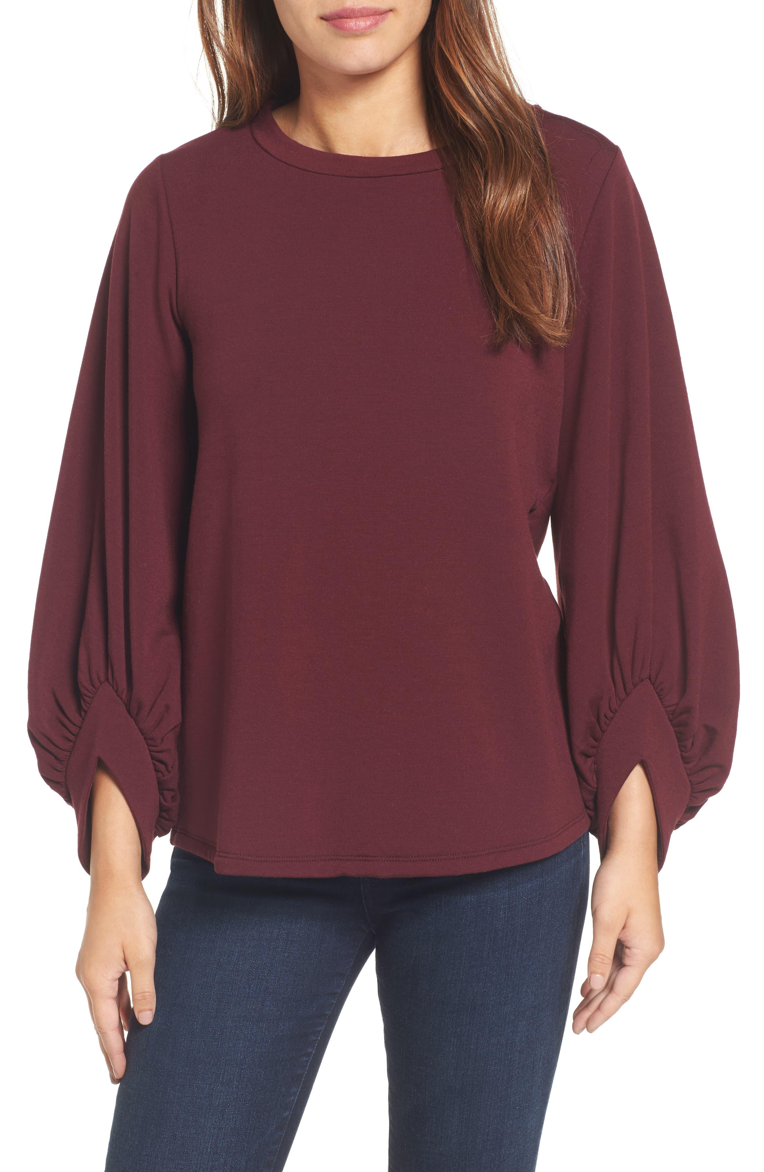 Pleione Angle Cuff Sweatshirt