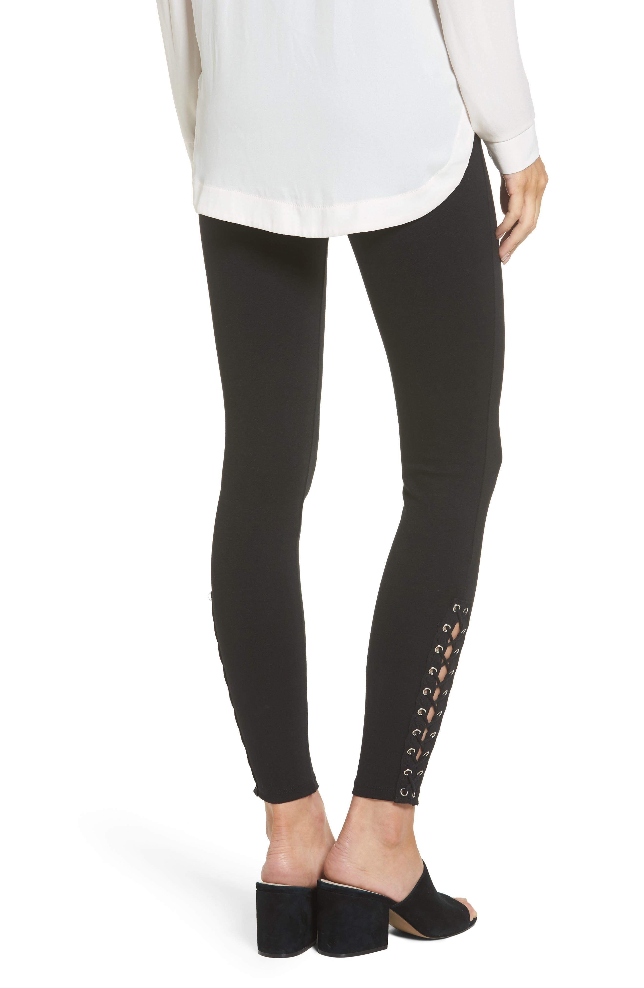 Alternate Image 2  - Lace-Up Grommet Legging