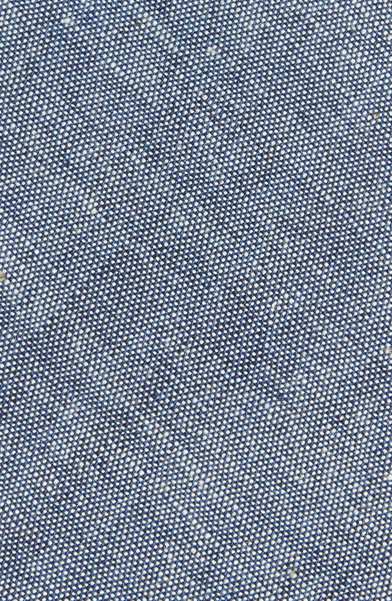 Chambray Cotton Tie,                             Alternate thumbnail 2, color,                             Chambray