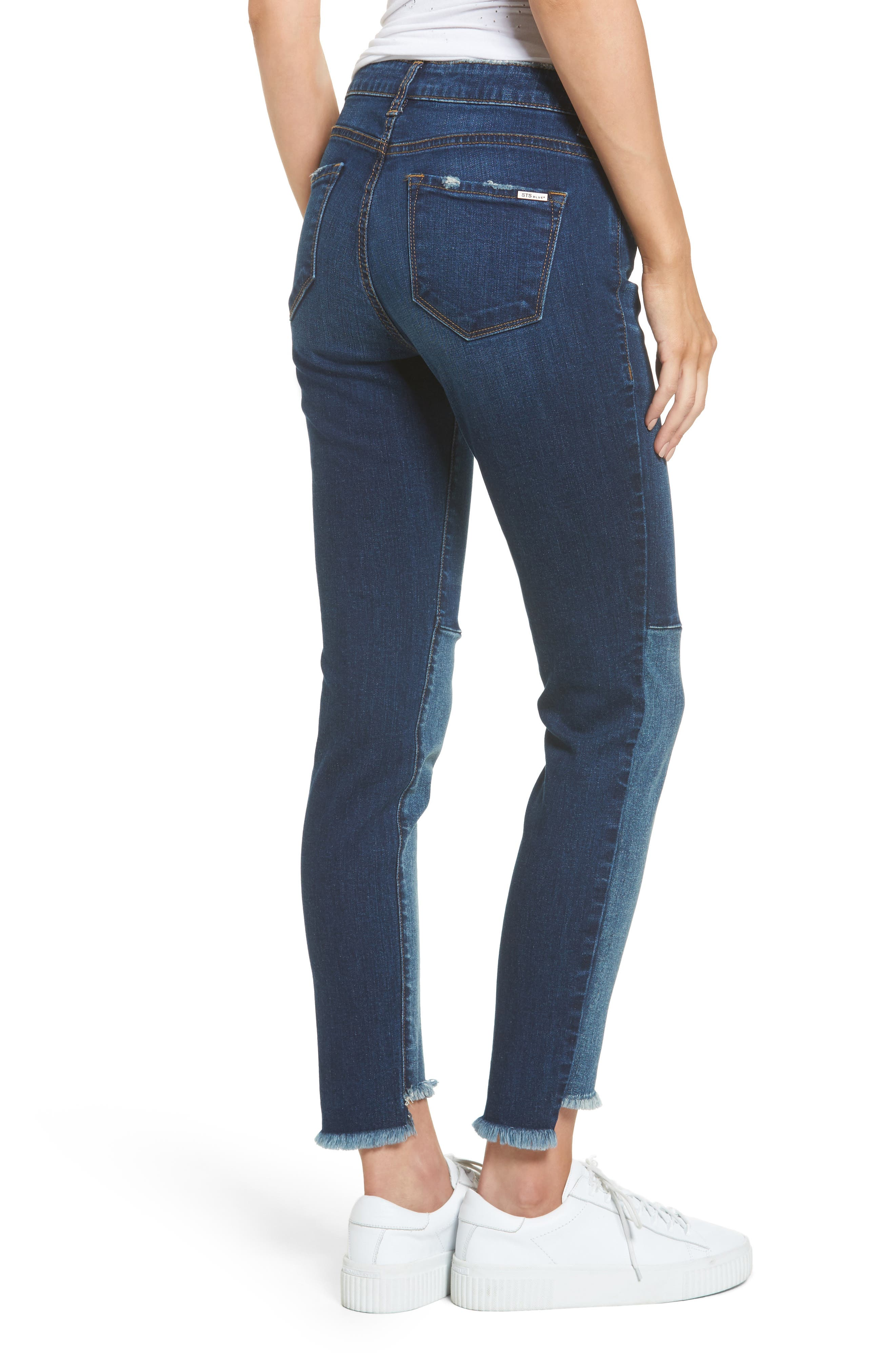 Piper Embroidered Skinny Jeans,                             Alternate thumbnail 2, color,                             Valencia